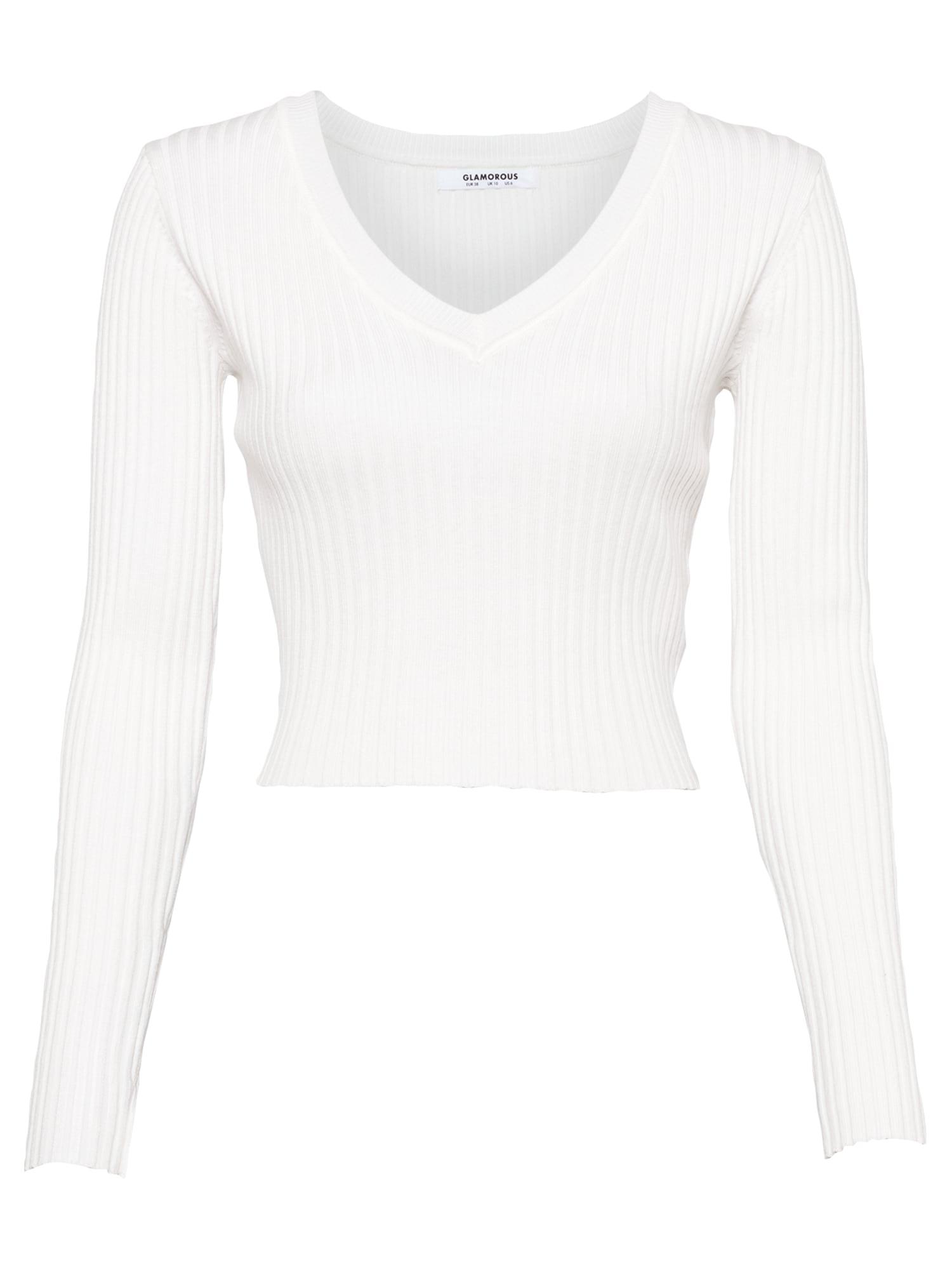 GLAMOROUS Marškinėliai balkšva