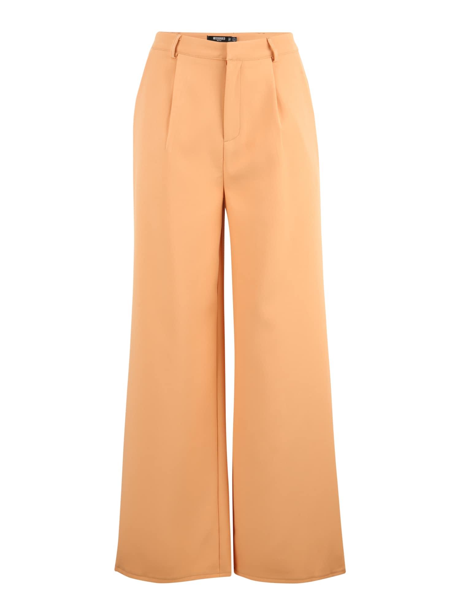 Missguided Petite Klostuotos kelnės oranžinė