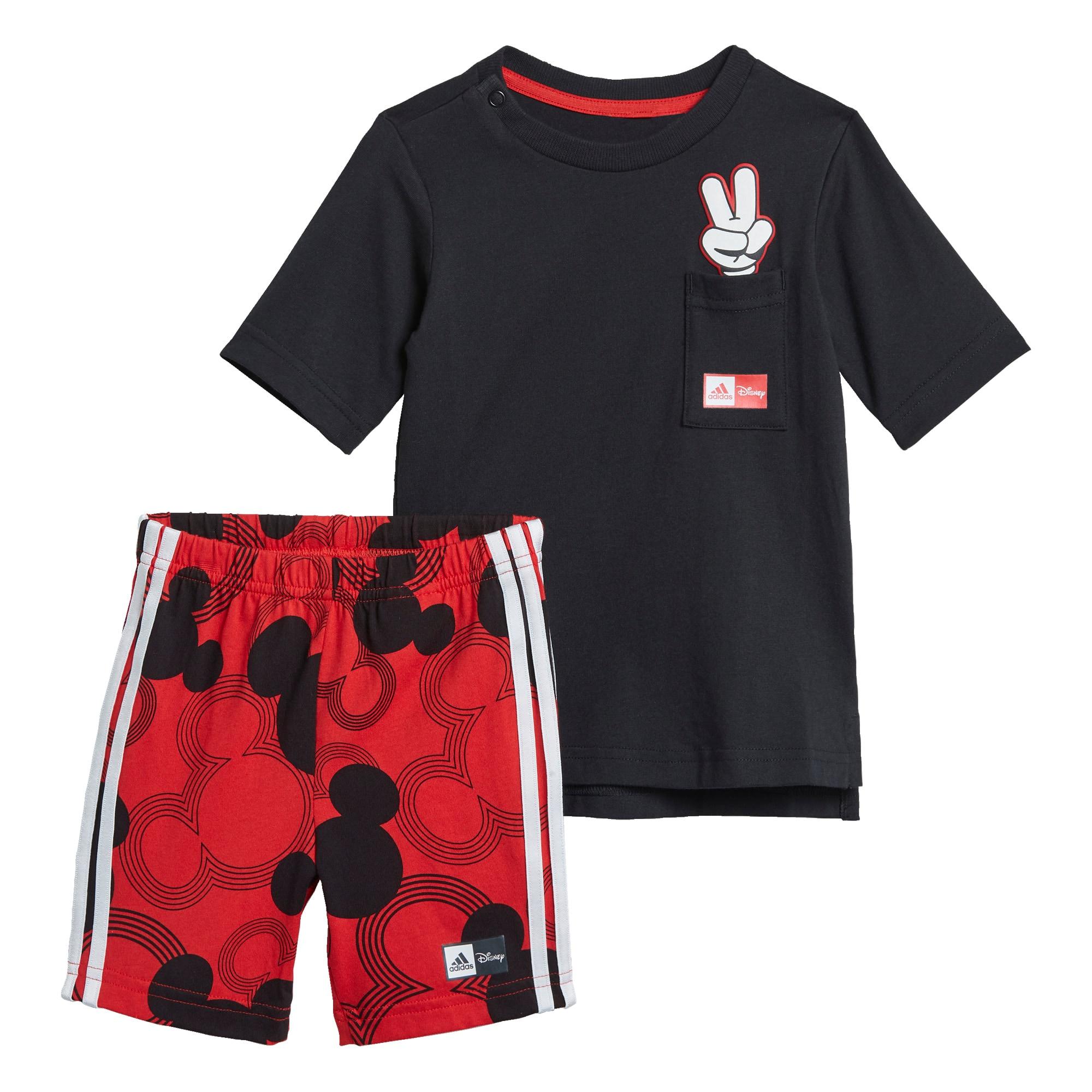 ADIDAS PERFORMANCE Treniruočių kostiumas 'Disney Mickey Mouse' juoda / raudona / balta