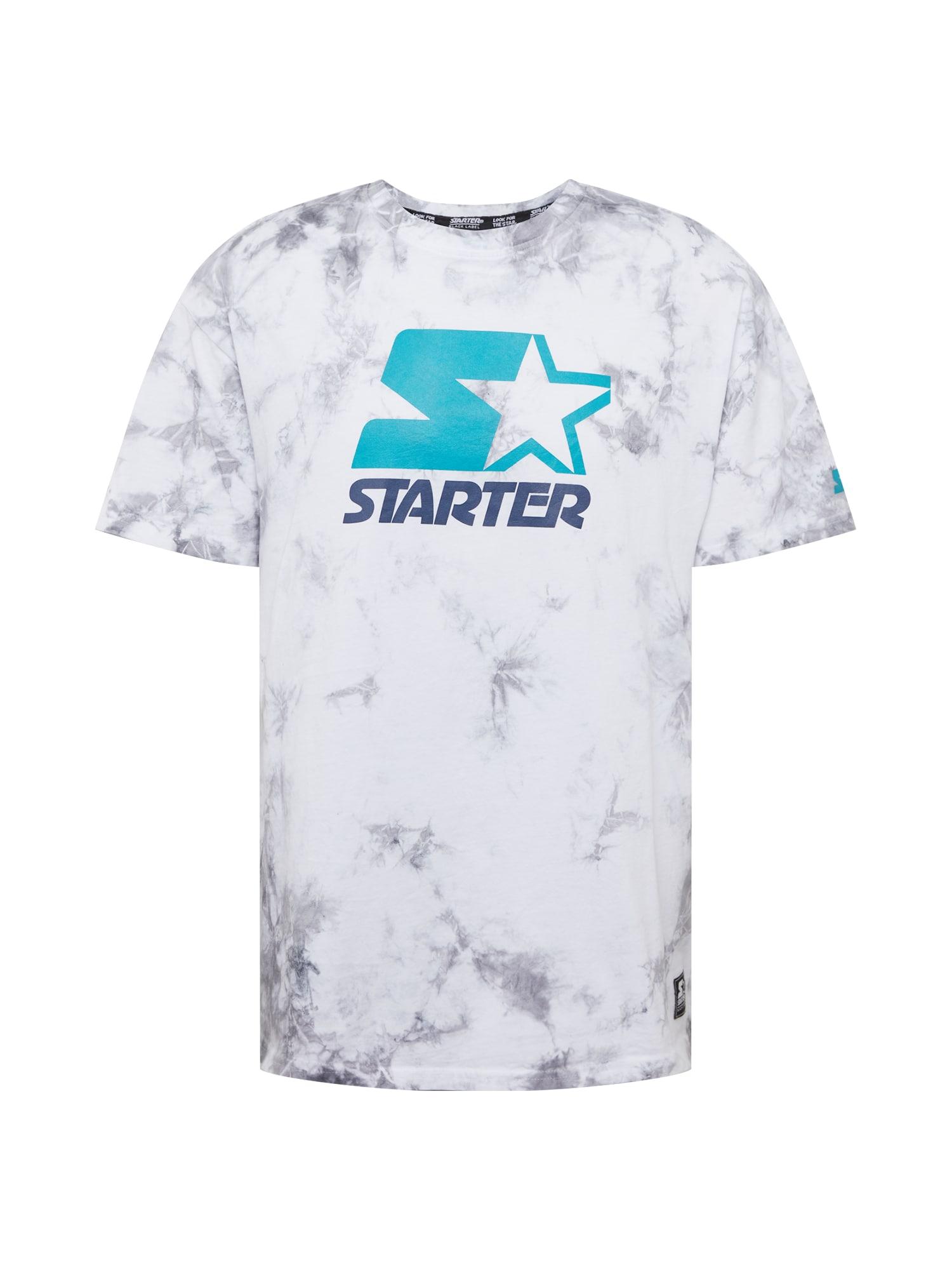 Starter Black Label Marškinėliai tamsiai mėlyna / balta / turkio spalva / sidabro pilka