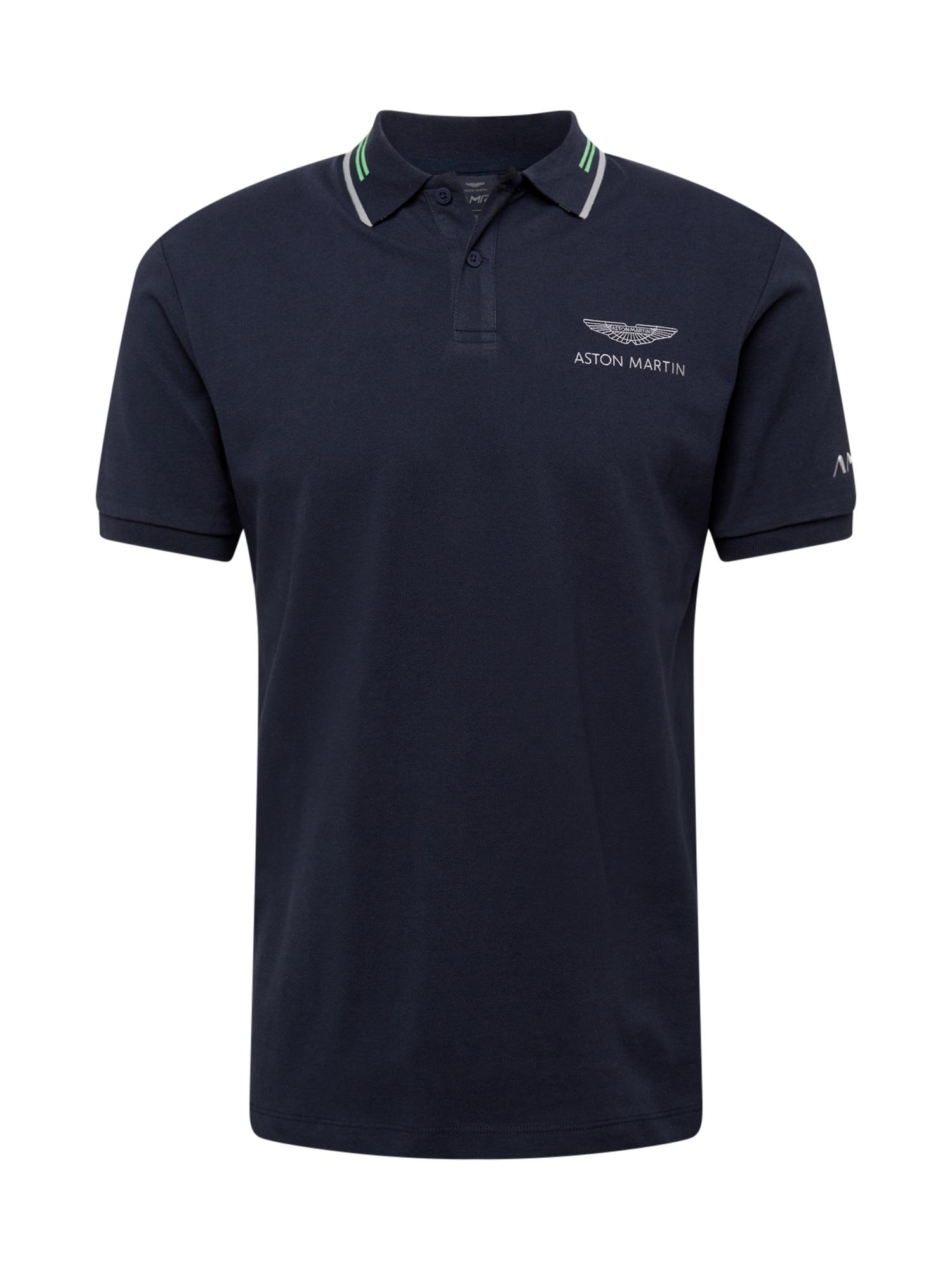 Hackett London Marškinėliai tamsiai mėlyna / balta