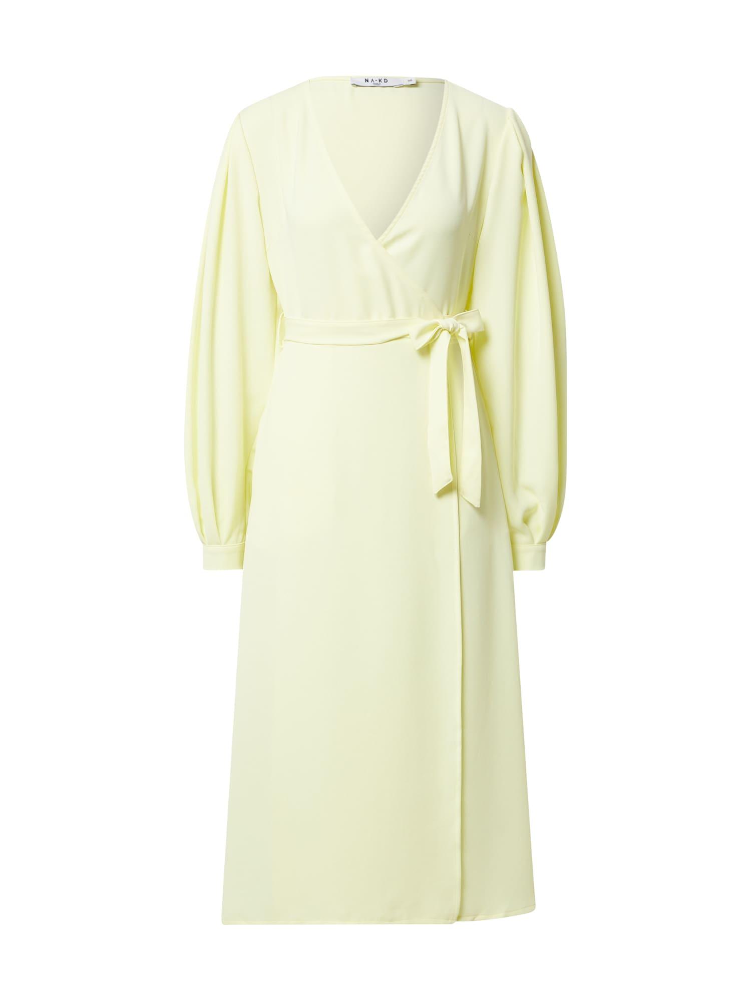 NA-KD Šaty  pastelově žlutá