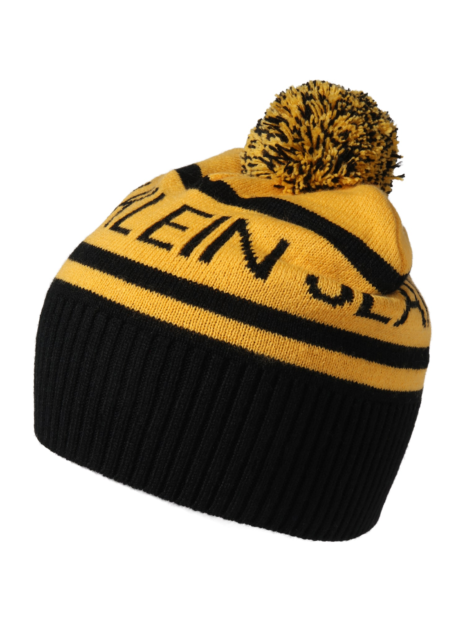 Calvin Klein Jeans Čepice  žlutá / černá