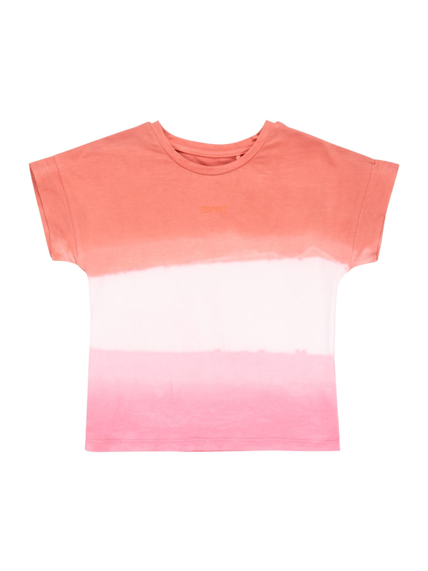 ESPRIT Marškinėliai rožių spalva / pastelinė rožinė / koralų splava