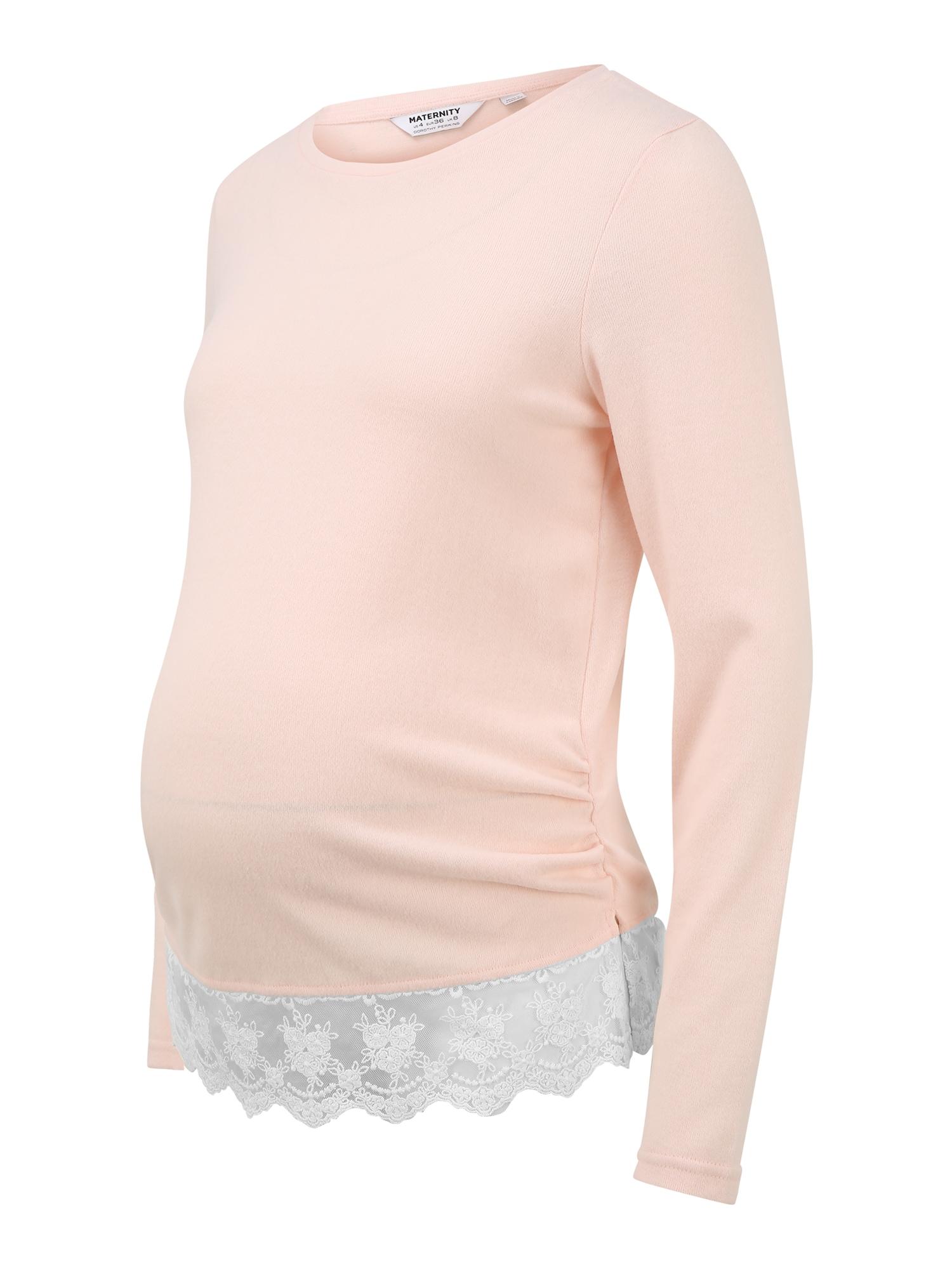 Dorothy Perkins Maternity Marškinėliai rožių spalva / balta