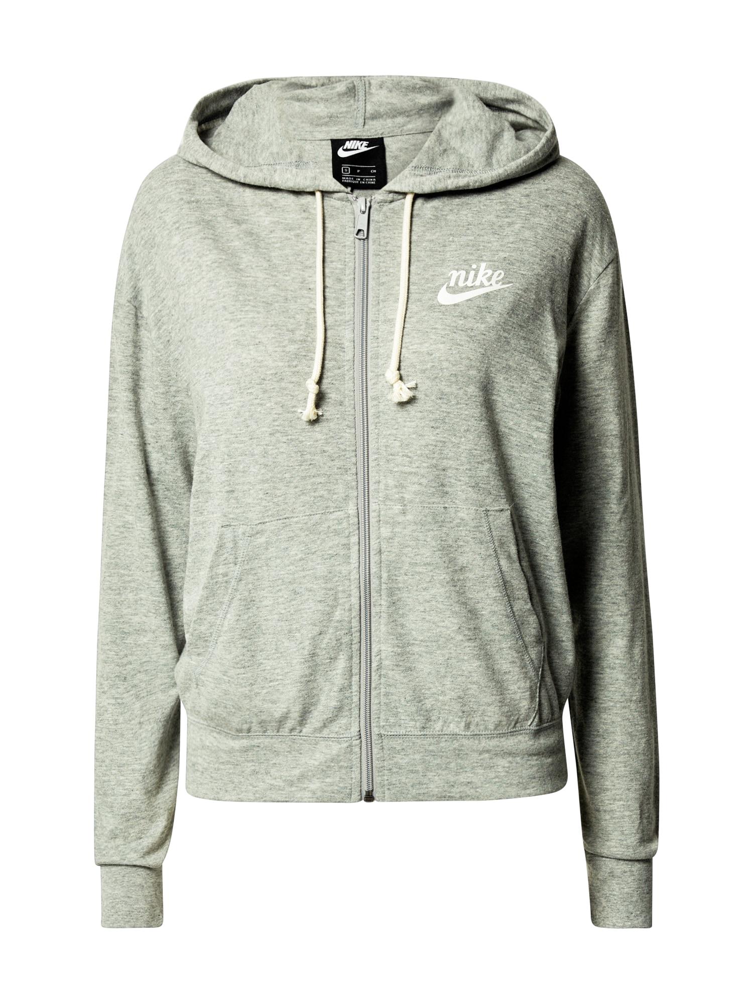 Nike Sportswear Džemperis margai pilka / balta