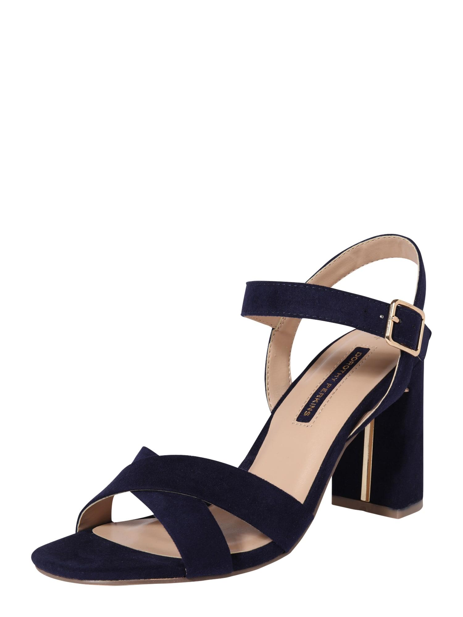 Dorothy Perkins Páskové sandály 'Selena'  černá