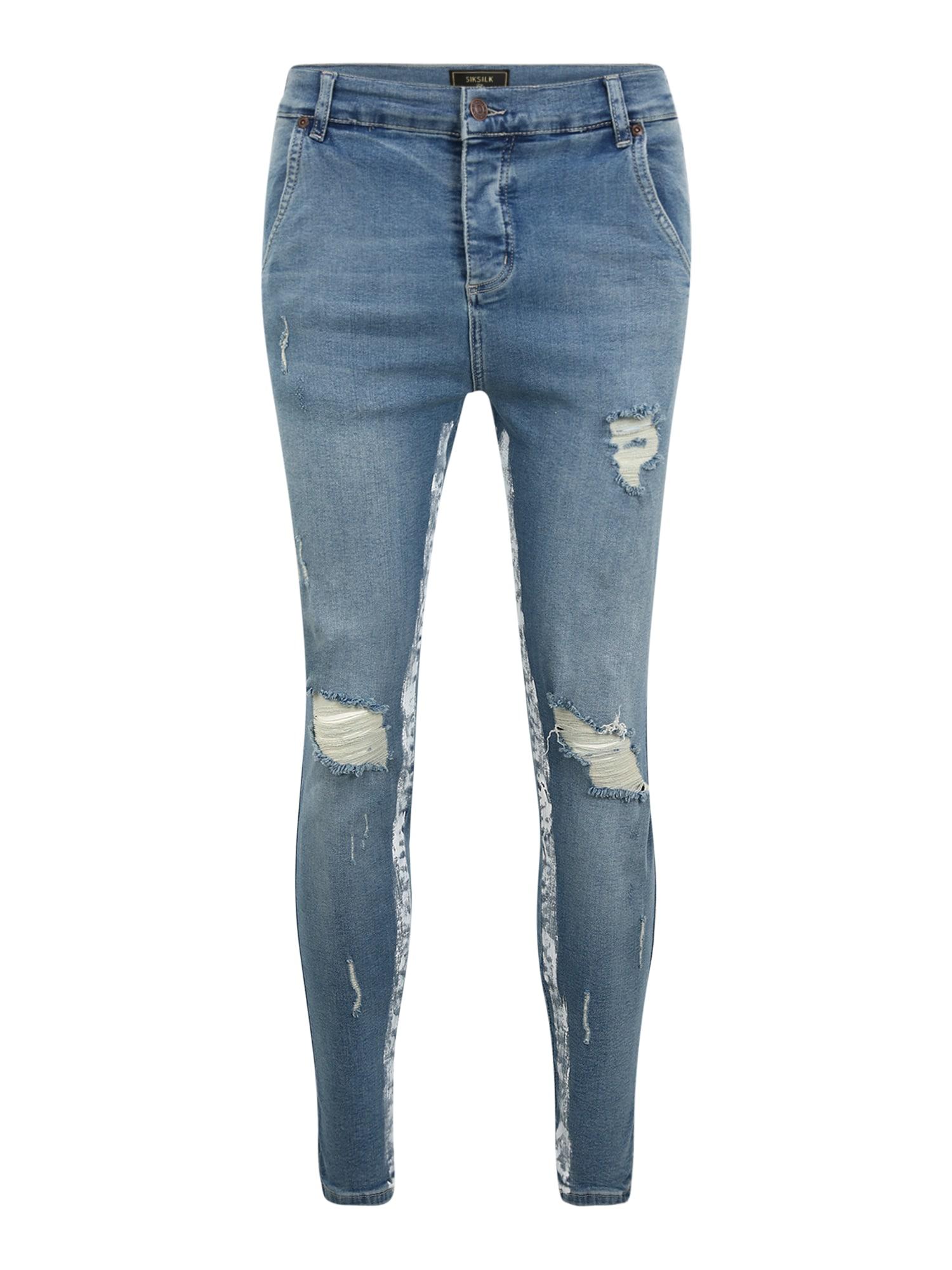 SikSilk Džinsai tamsiai (džinso) mėlyna