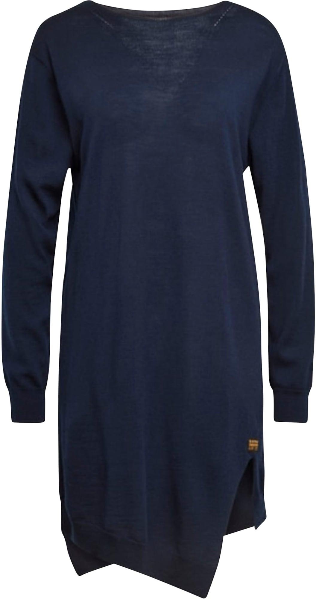G-Star RAW Úpletové šaty  námořnická modř