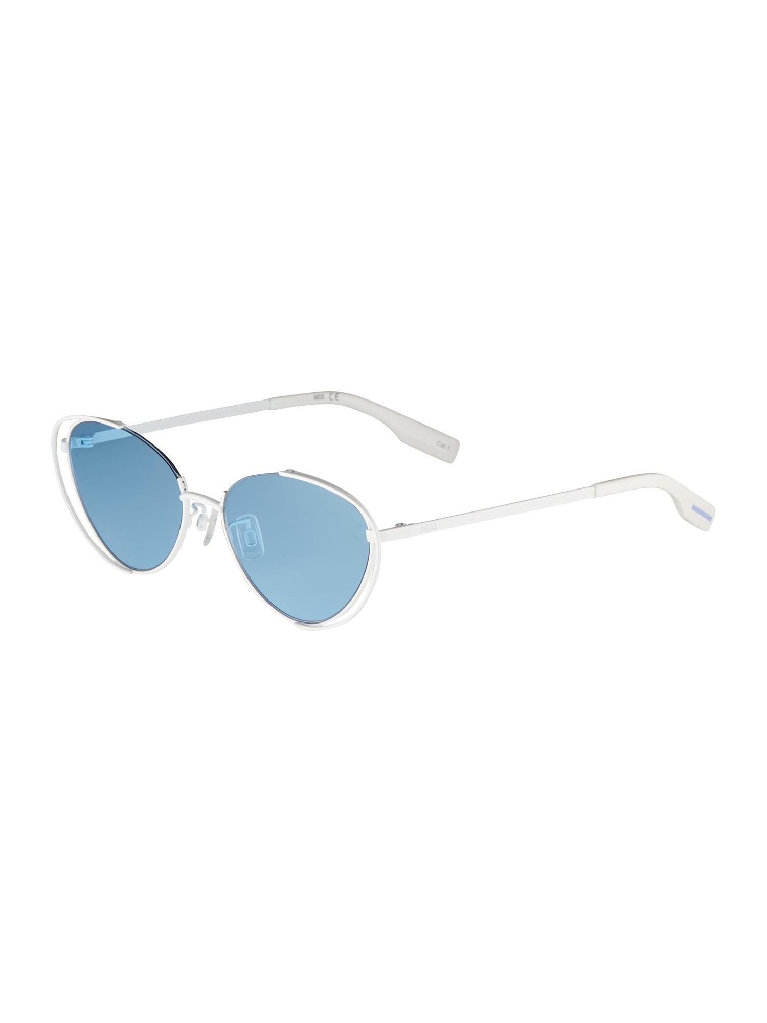 McQ Alexander McQueen Akiniai nuo saulės balta / šviesiai mėlyna