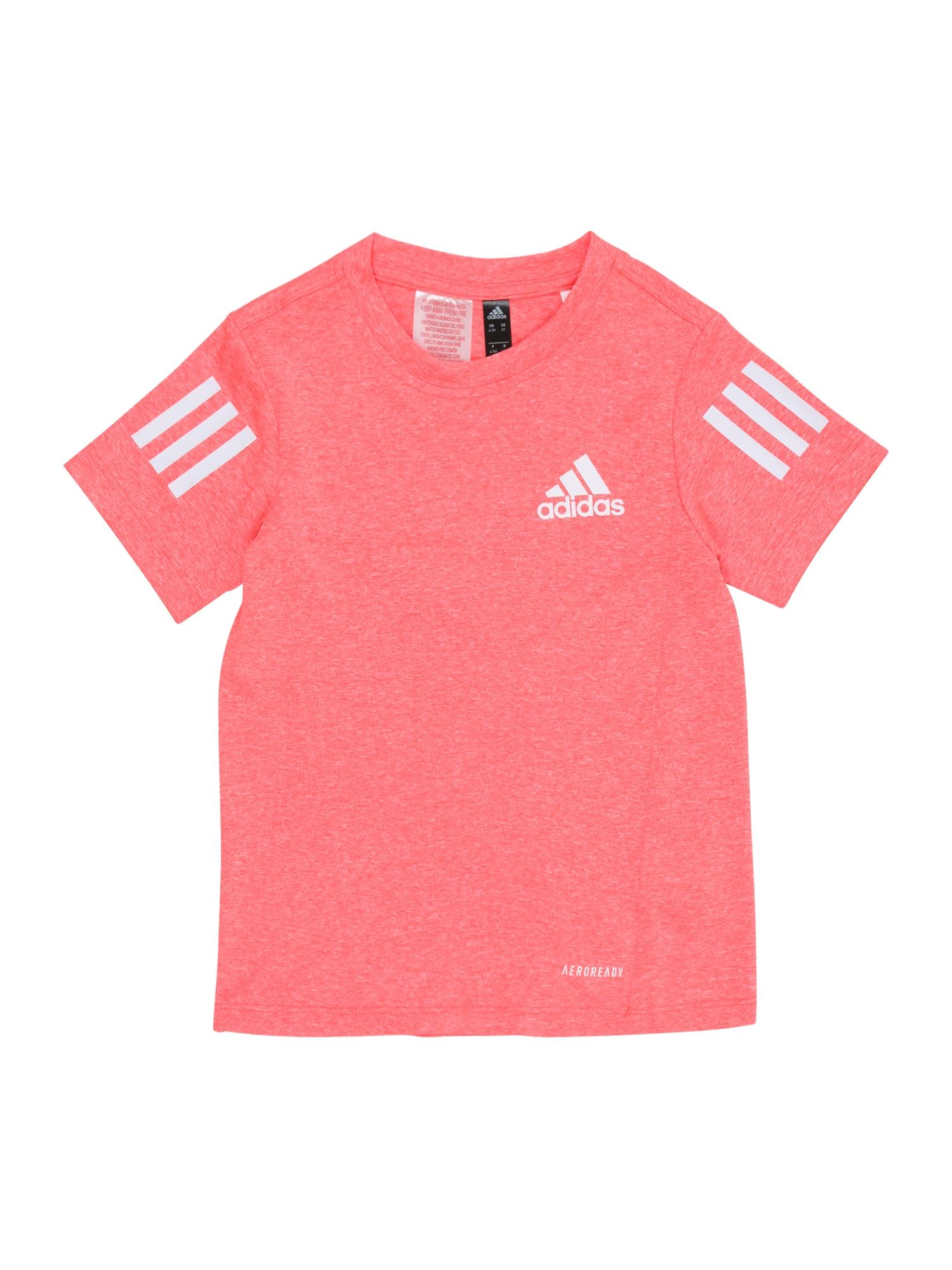 ADIDAS PERFORMANCE Sportiniai marškinėliai 'B A.R' šviesiai rožinė / balta