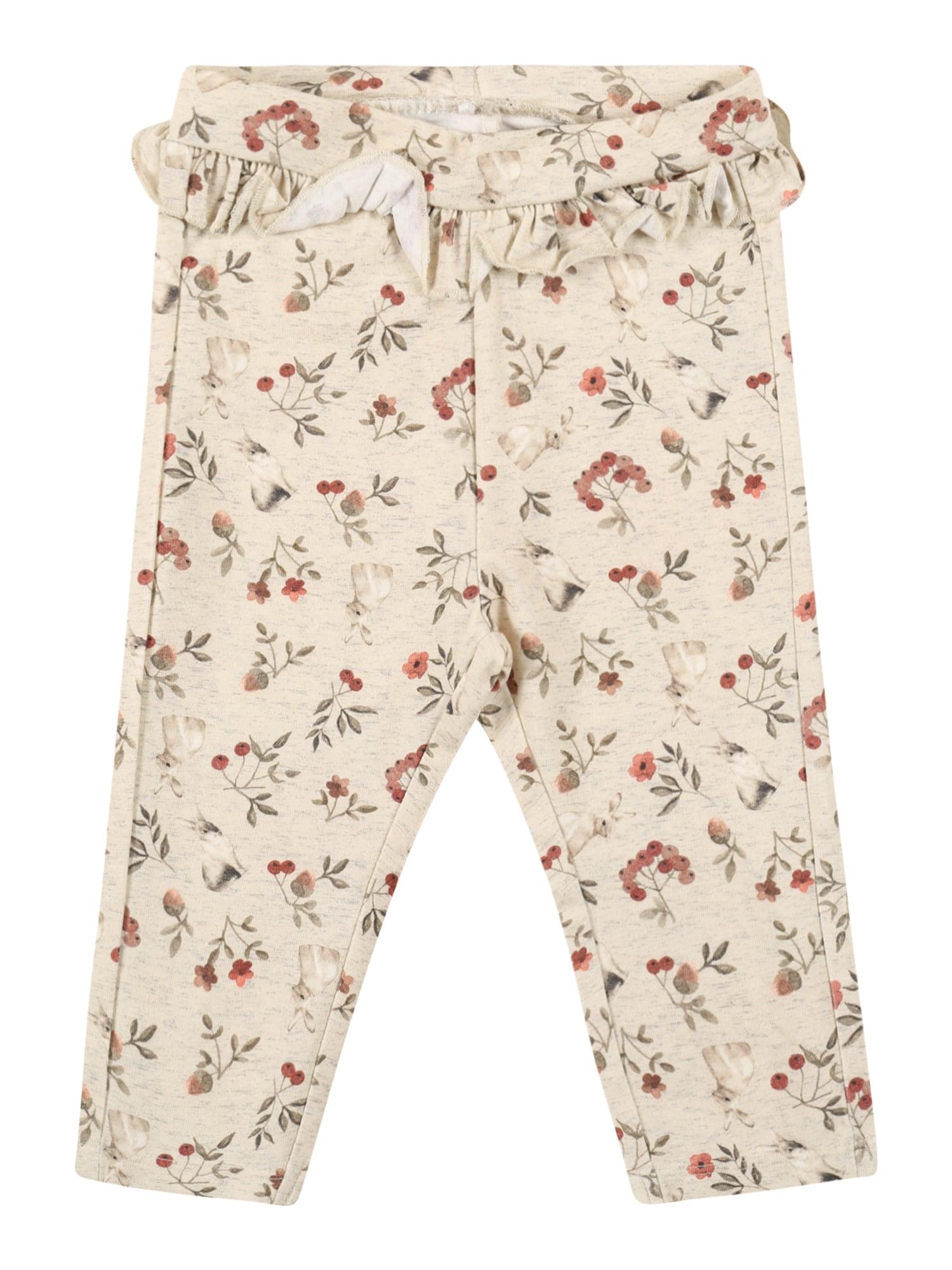 NAME IT Kalhoty  krémová / khaki / červená / světle béžová