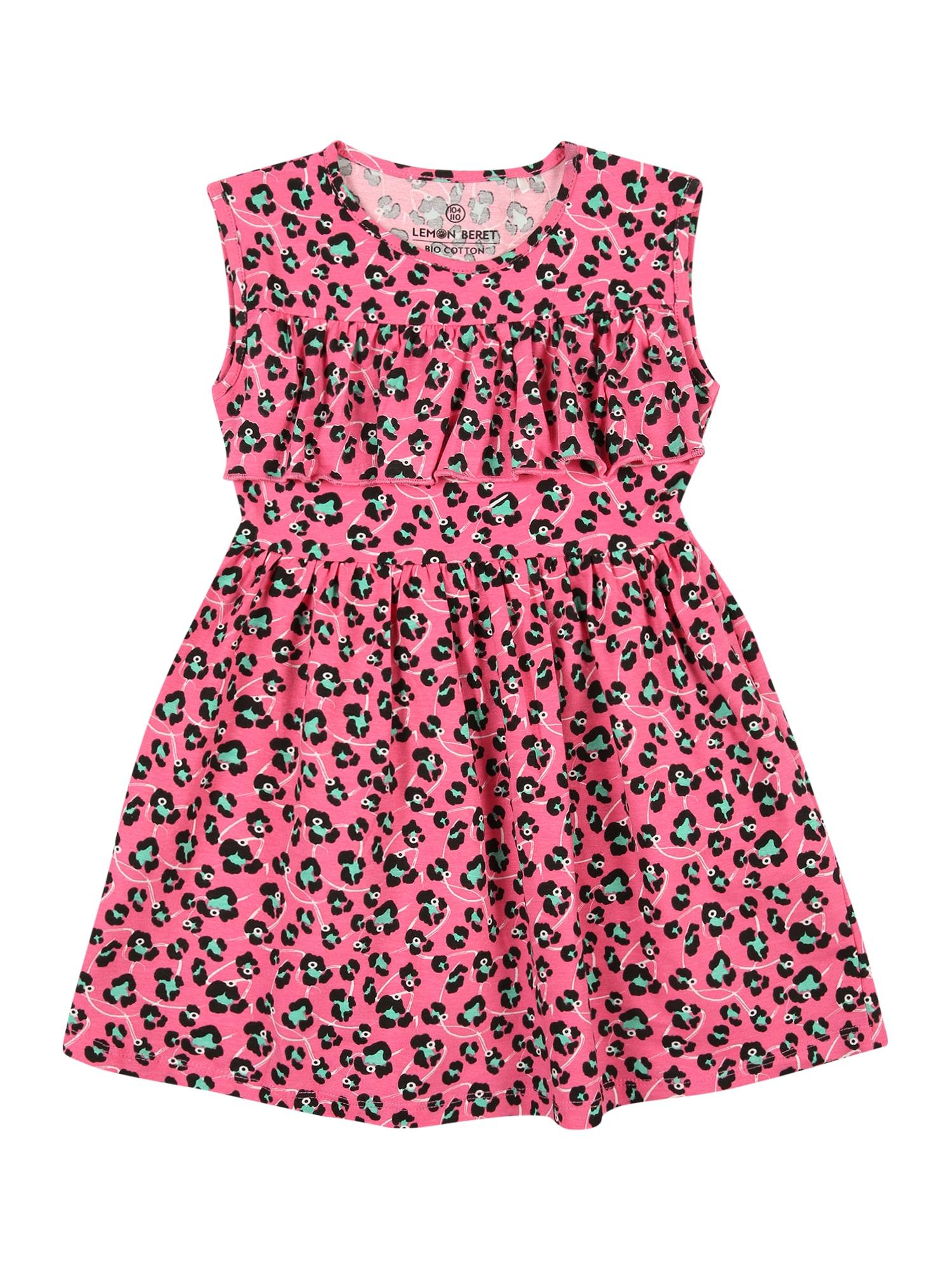 LEMON BERET Suknelė rožinė / juoda / žalia