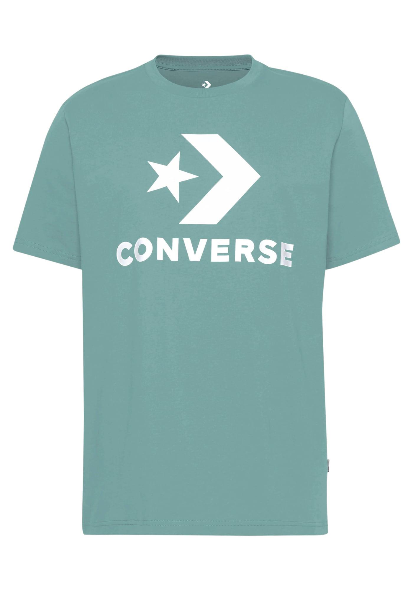 CONVERSE Marškinėliai mėtų spalva / balta