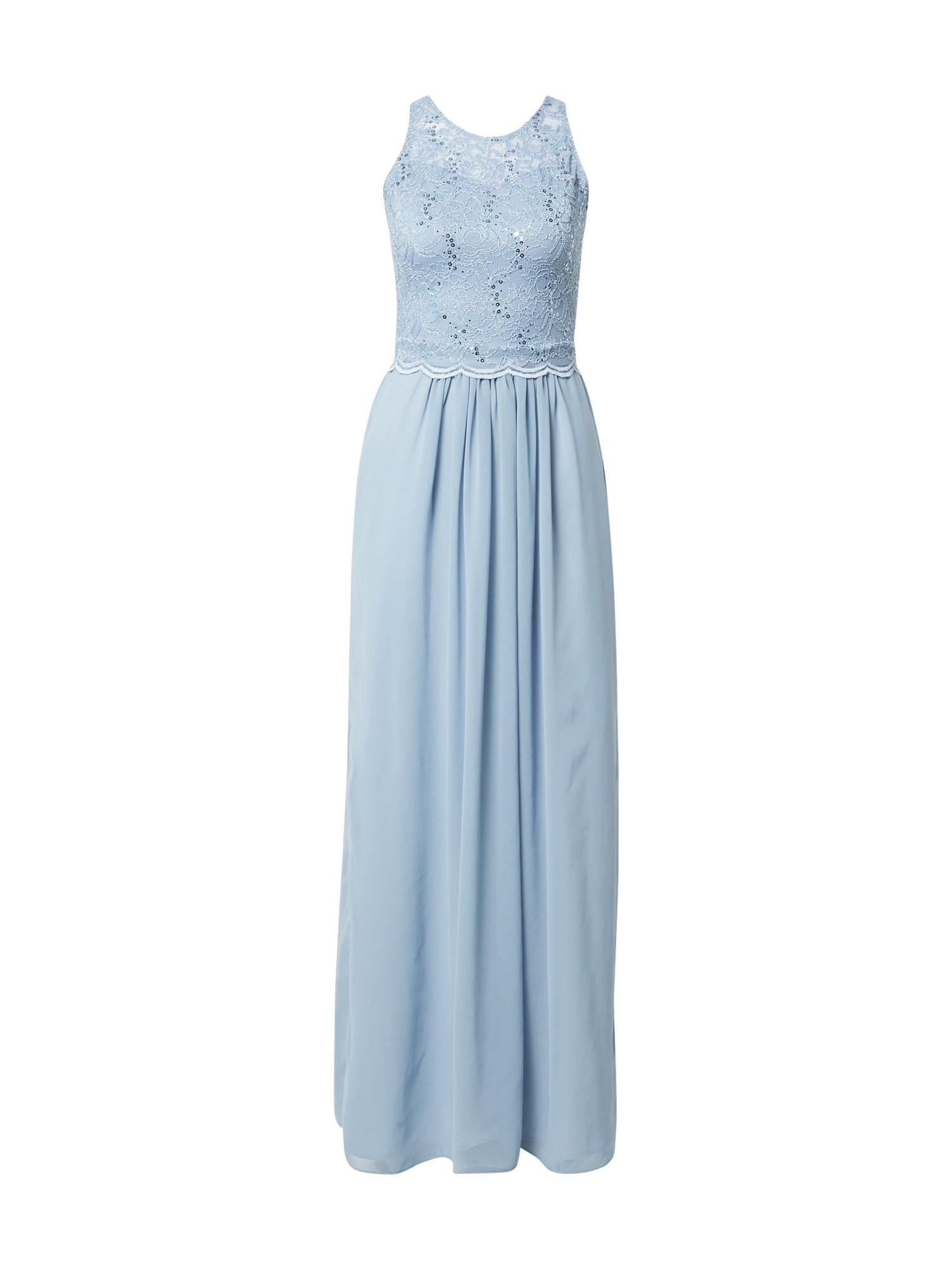 SWING Vakarinė suknelė mėlyna dūmų spalva