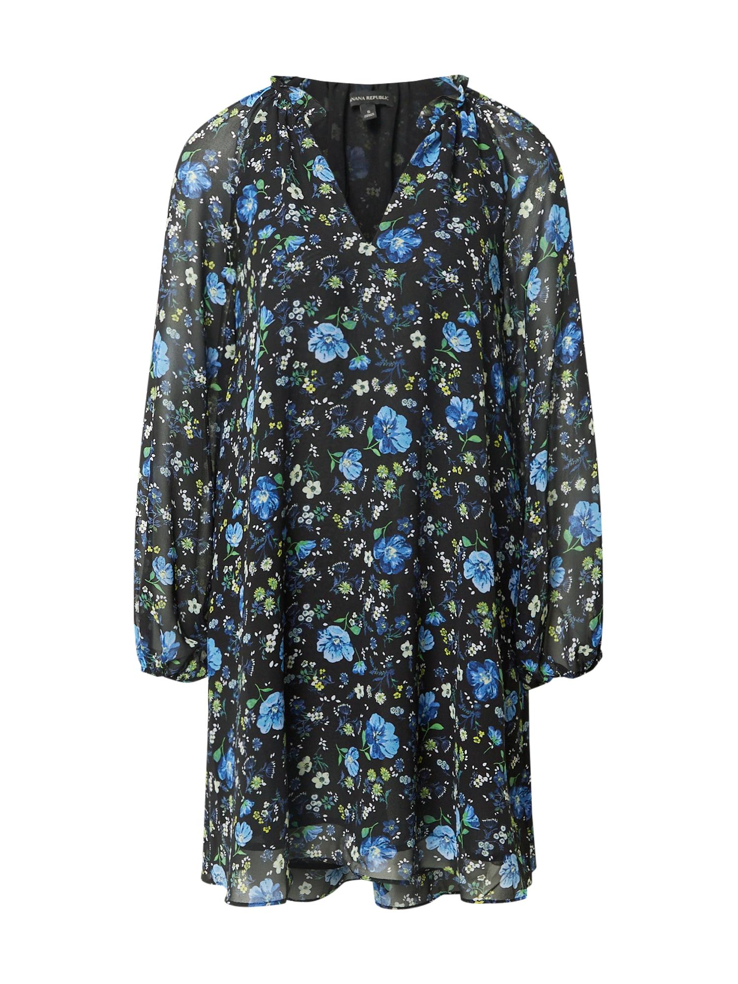 Banana Republic Suknelė žalia / juoda / mėlyna
