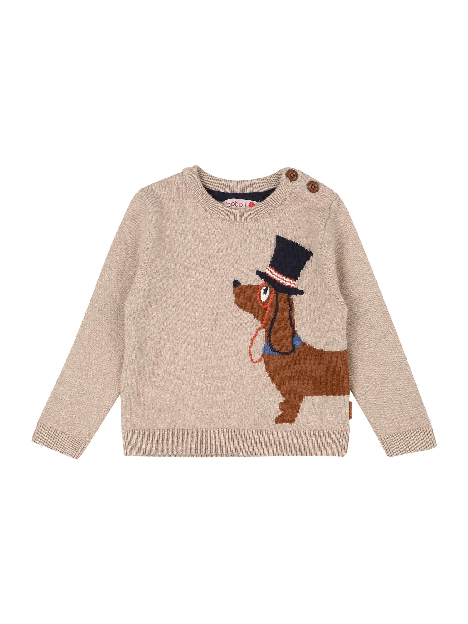 Boboli Megztinis 'Hündchen' smėlio / ruda