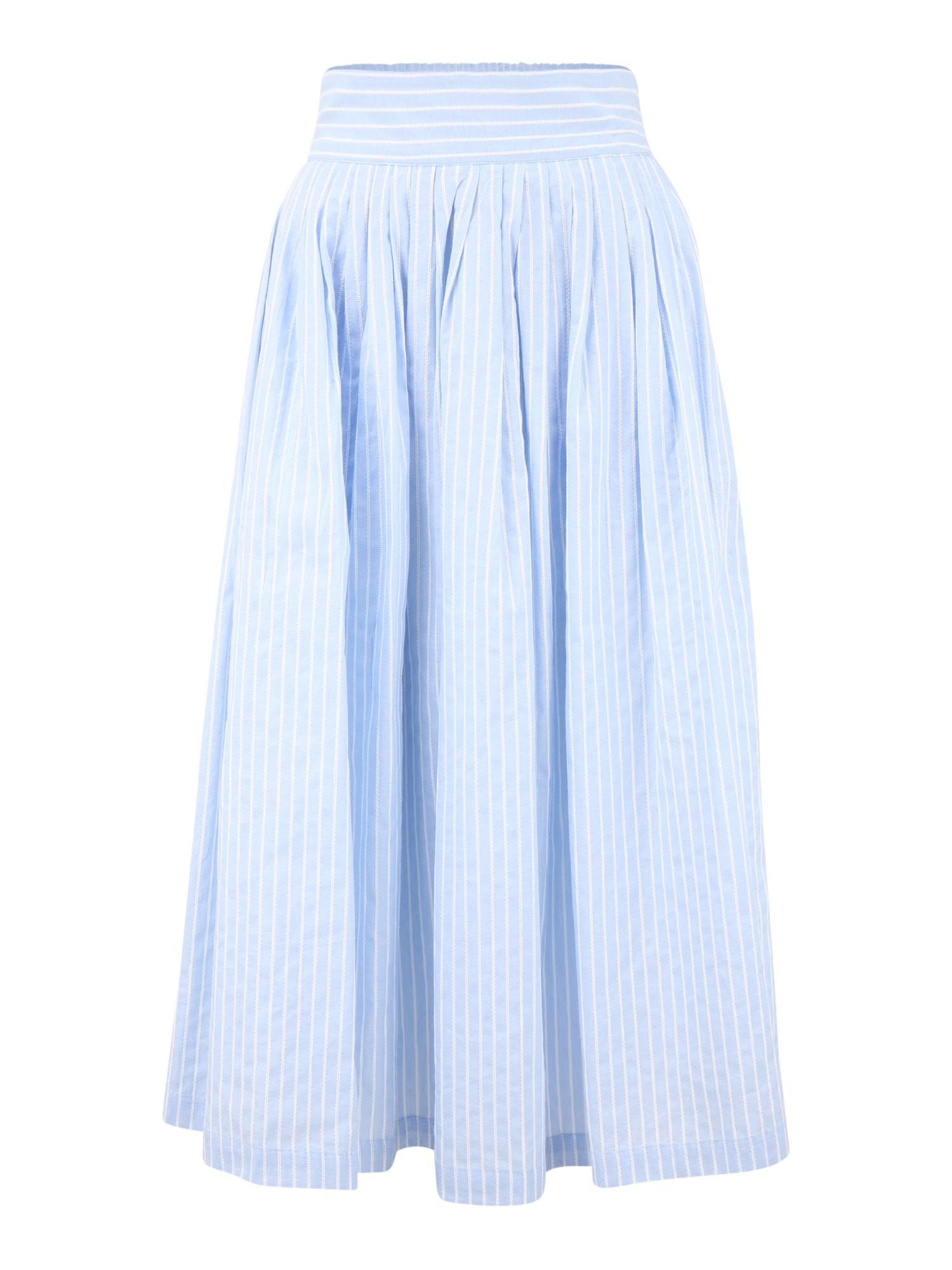 Y.A.S (Tall) Sijonas šviesiai mėlyna / balta