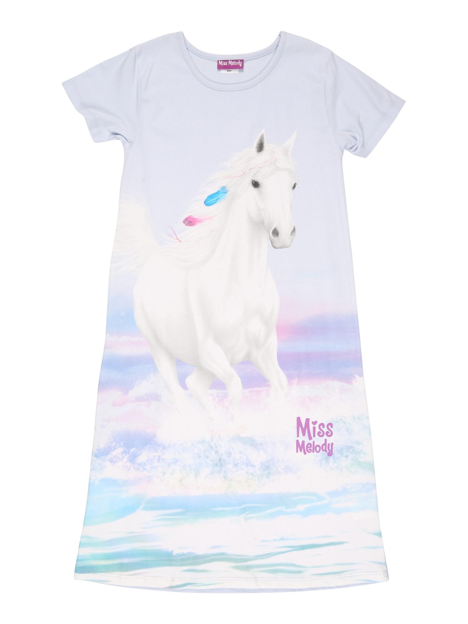Miss Melody Naktinukai šviesiai mėlyna / purpurinė / šviesiai rožinė / turkio spalva / balta