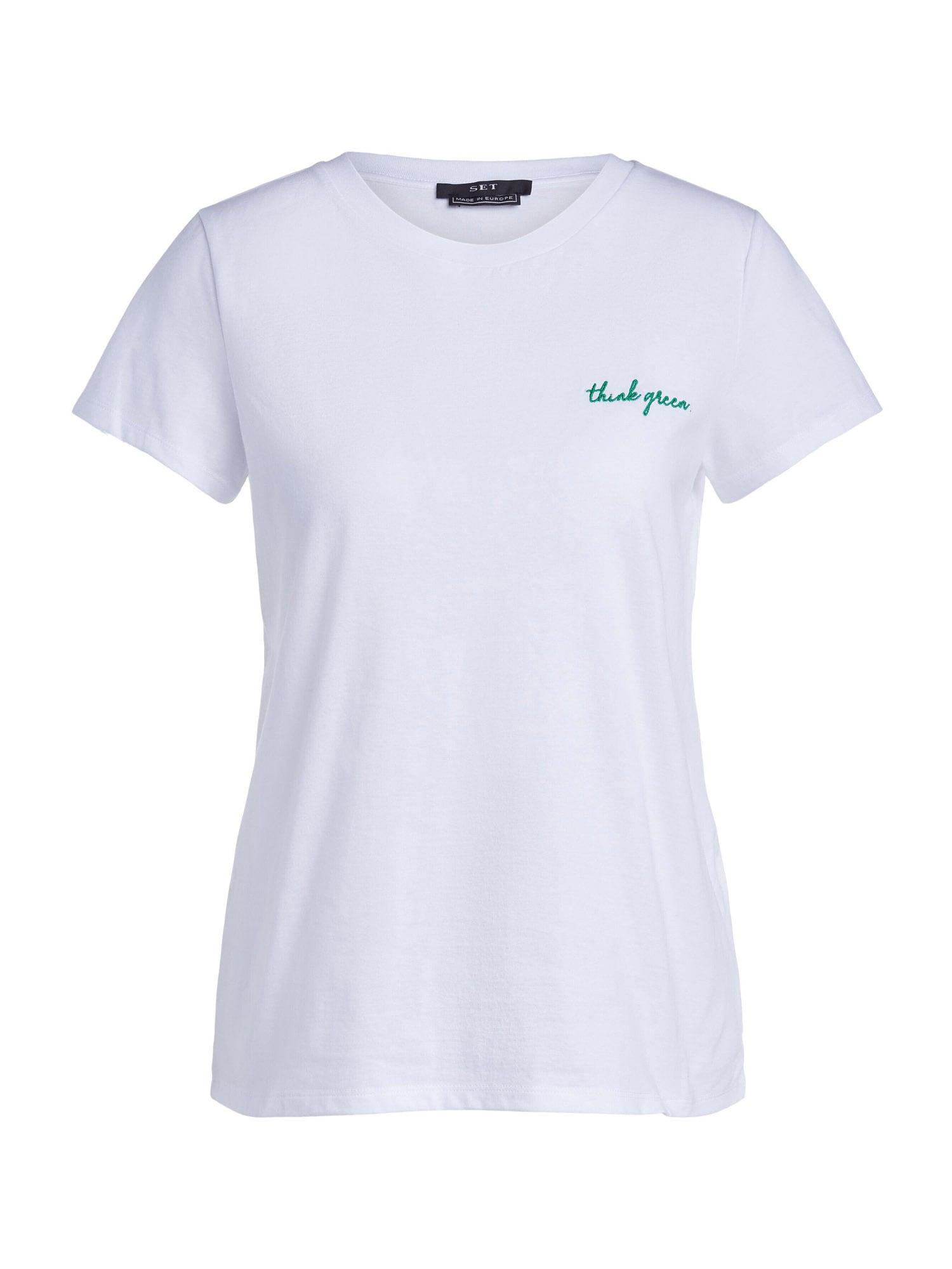 SET Marškinėliai balta / žalia