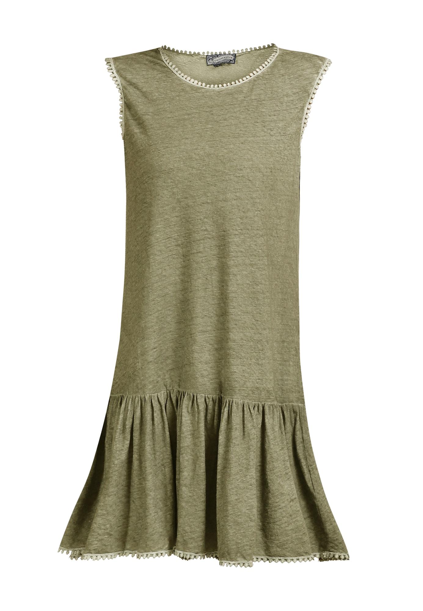 DreiMaster Vintage Vasarinė suknelė alyvuogių spalva