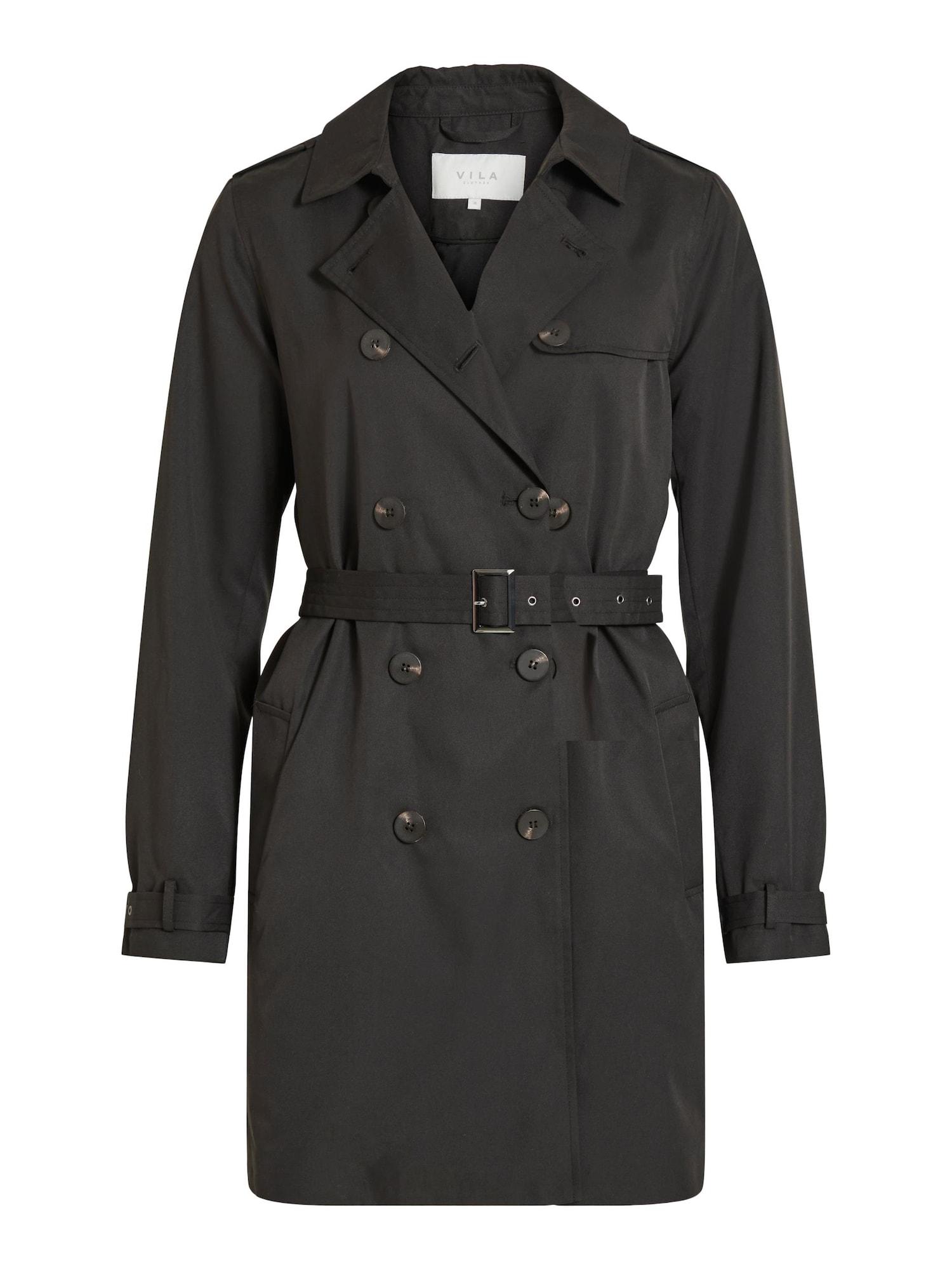 VILA Demisezoninis paltas juoda