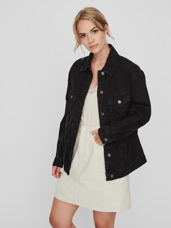 Vero Moda Katrina weite Jeansjacke mit langen Ärmeln