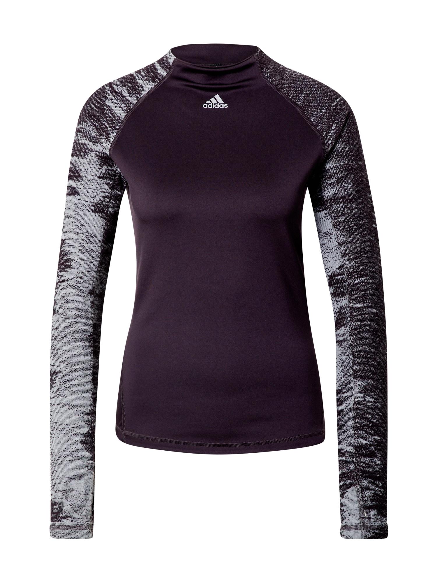 ADIDAS PERFORMANCE Sportiniai marškinėliai purpurinė spalva / šviesiai mėlyna / balta