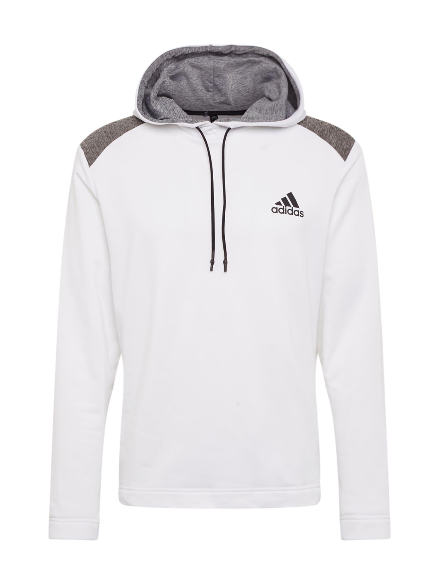 adidas Golf Sportovní svetr  bílá / šedý melír / šedobéžová