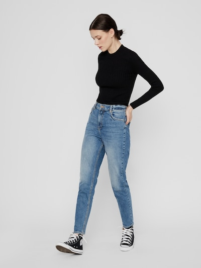 Pieces Leah Mom-Jeans mit hoher Taille