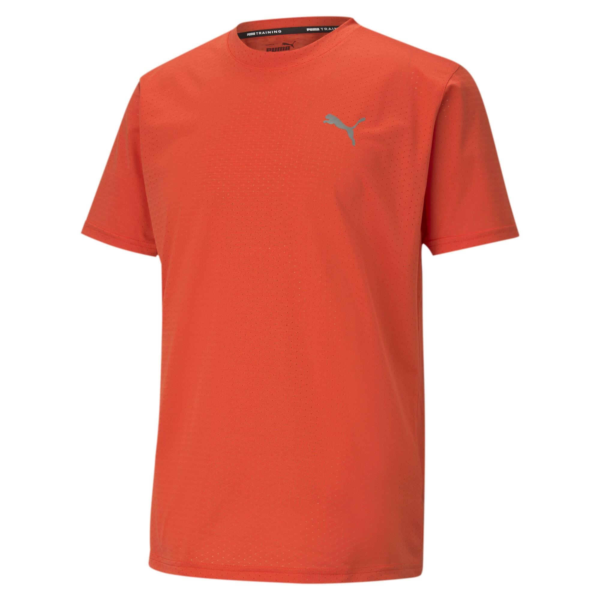 PUMA Sportiniai marškinėliai raudona / akmens