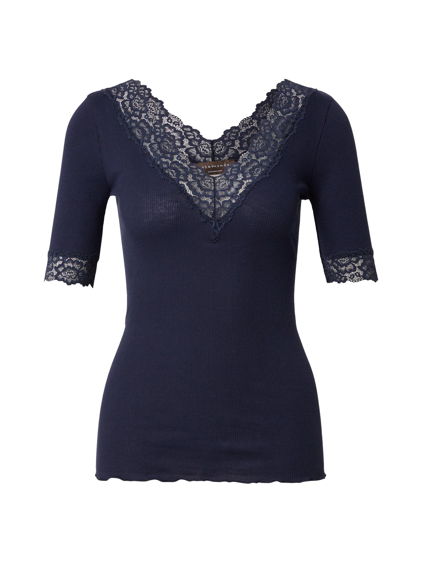 rosemunde Marškinėliai tamsiai mėlyna jūros spalva