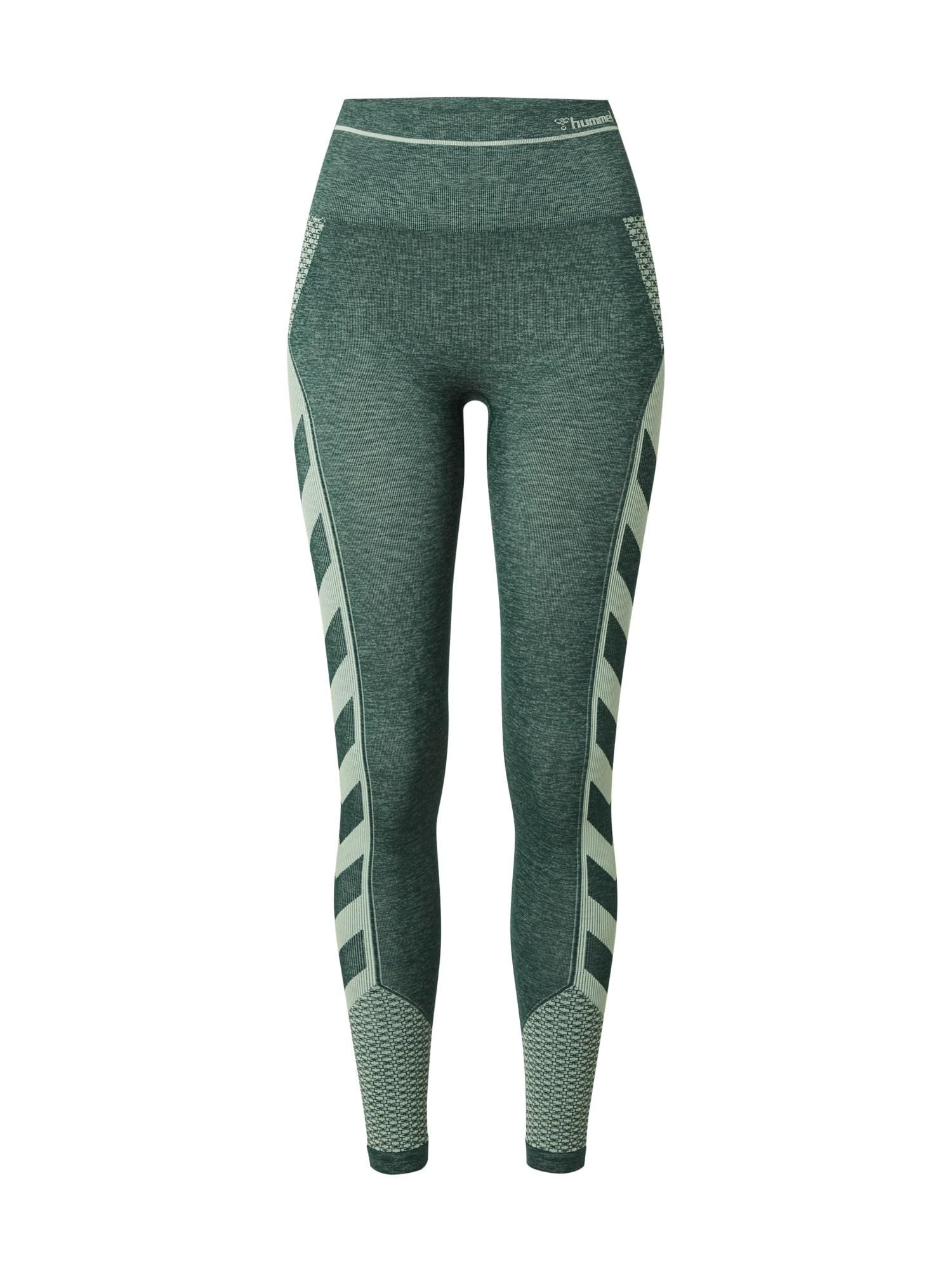 Hummel Sportovní kalhoty 'VERA'  tmavě zelená / pastelově zelená