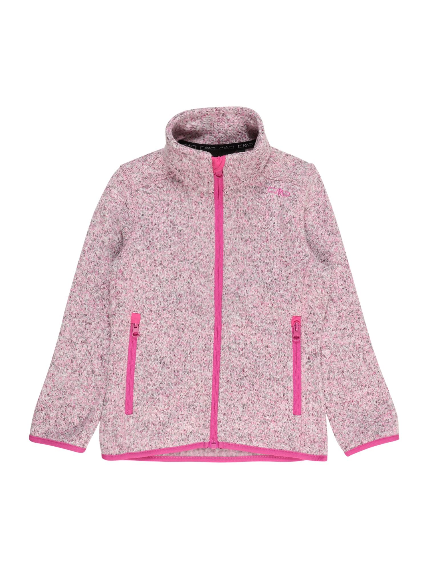 CMP Funkcinis flisinis džemperis šviesiai rožinė / marga smėlio spalva / margai pilka