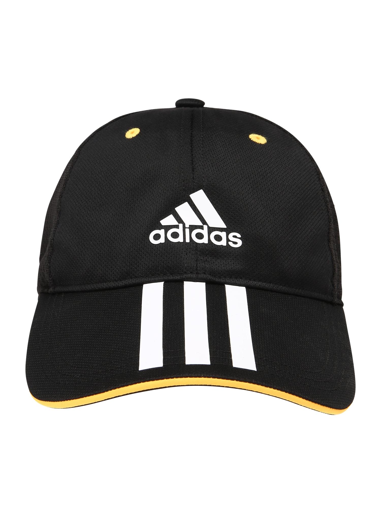 ADIDAS PERFORMANCE Sportinė kepurė juoda / geltona / balta