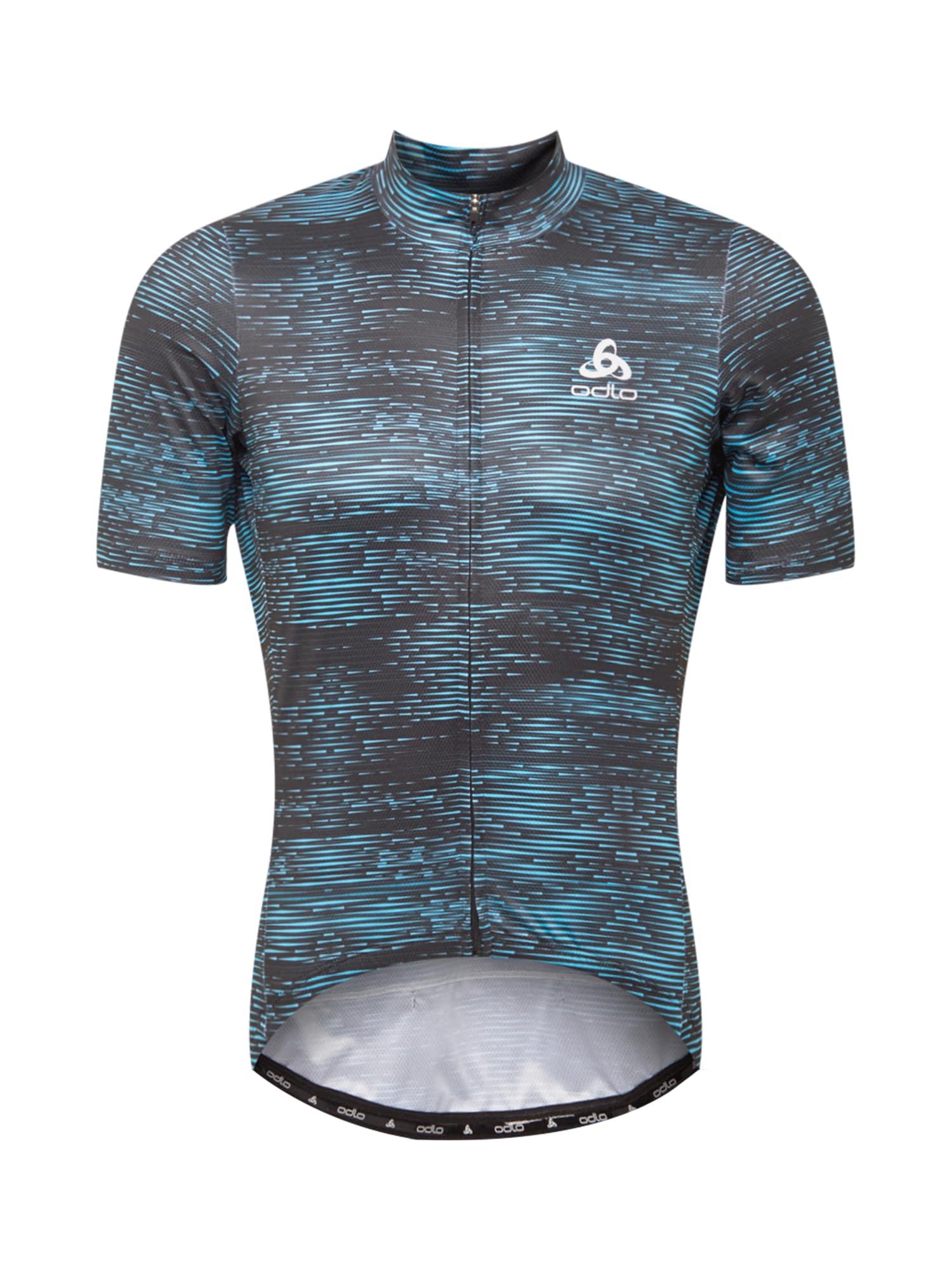 ODLO Sportiniai marškinėliai žalsvai mėlyna / mėlyna