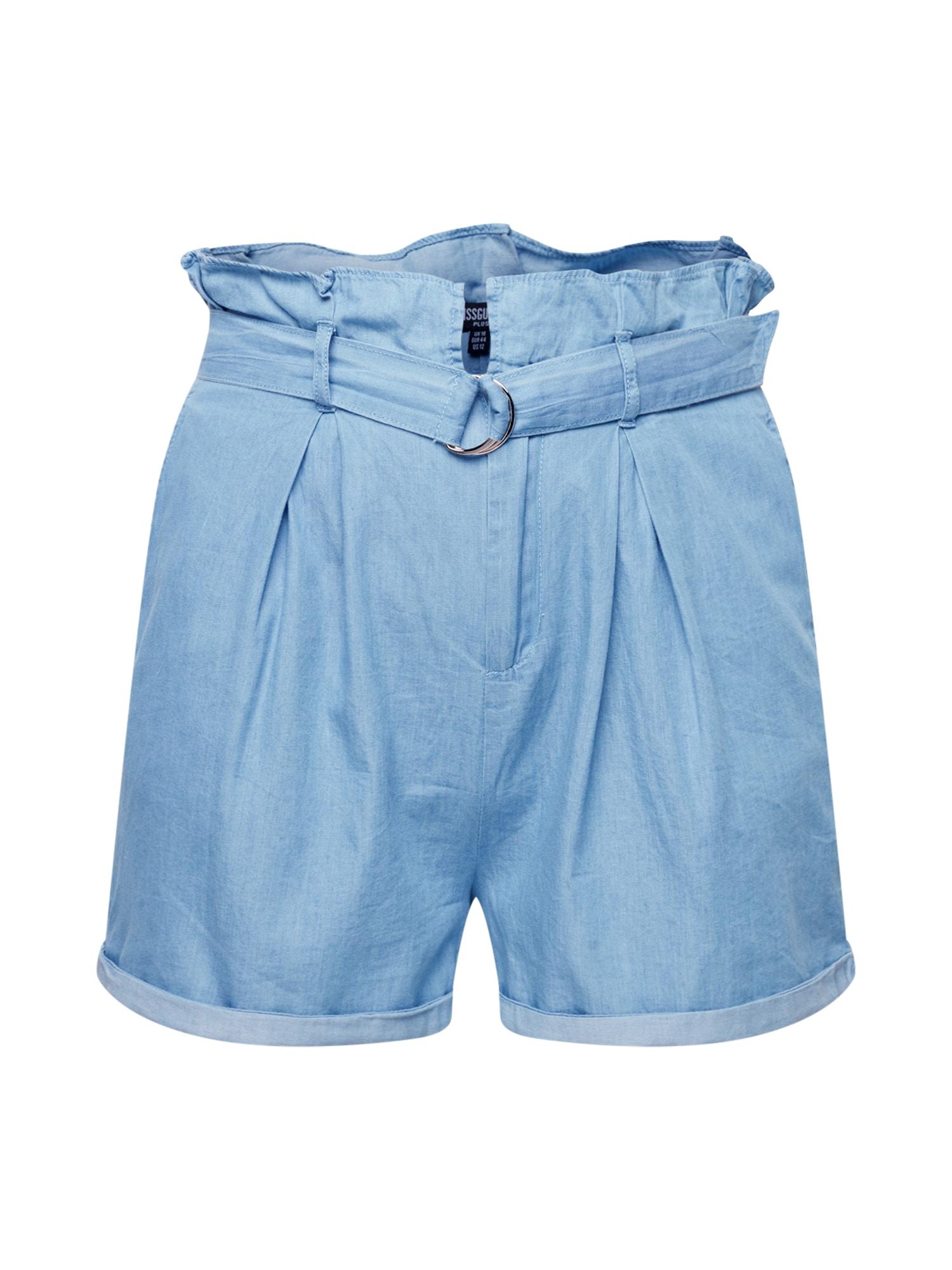 Missguided Plus Kelnės mėlyna