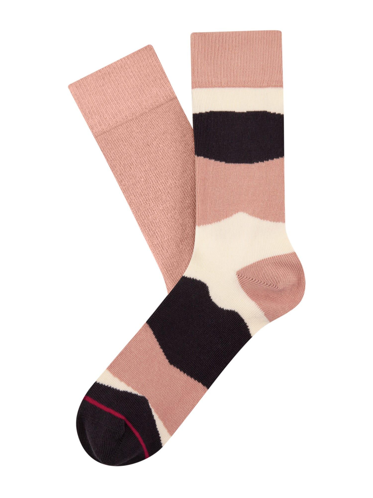 Cheerio Kojinės ryškiai rožinė spalva / balta / juoda / purpurinė spalva