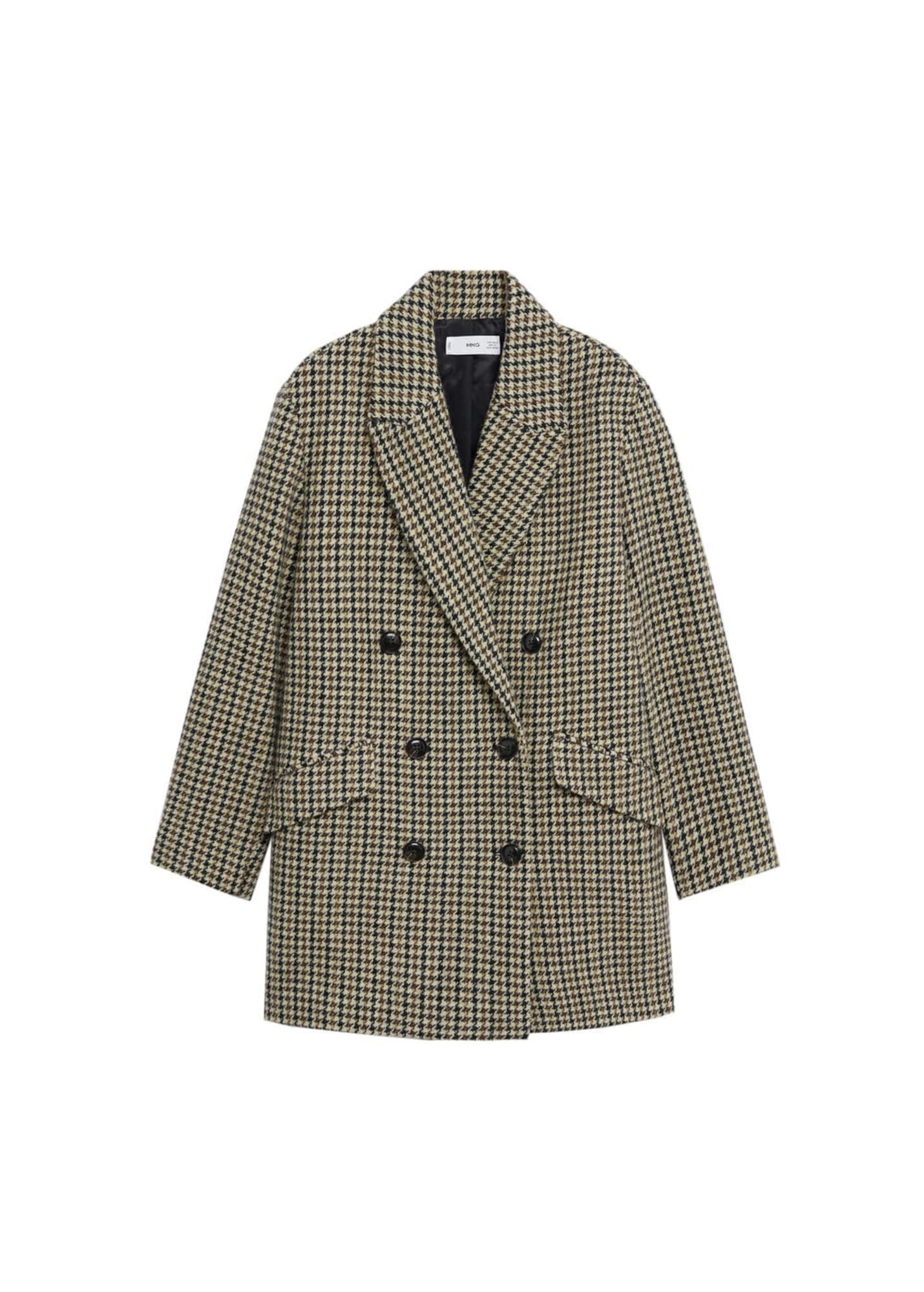 MANGO Přechodný kabát 'Darwin'  hnědá / černá / béžová