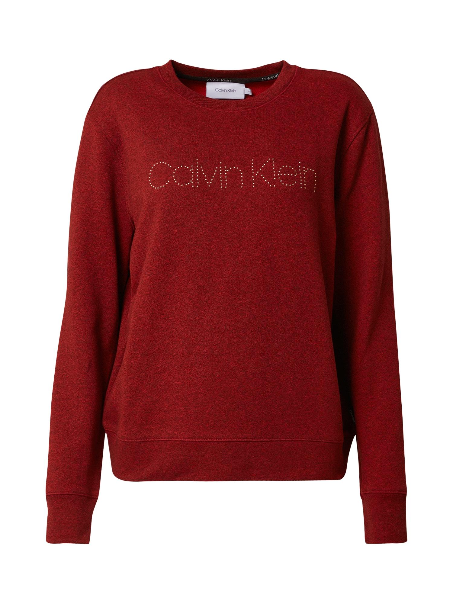 Calvin Klein Mikina  vínově červená
