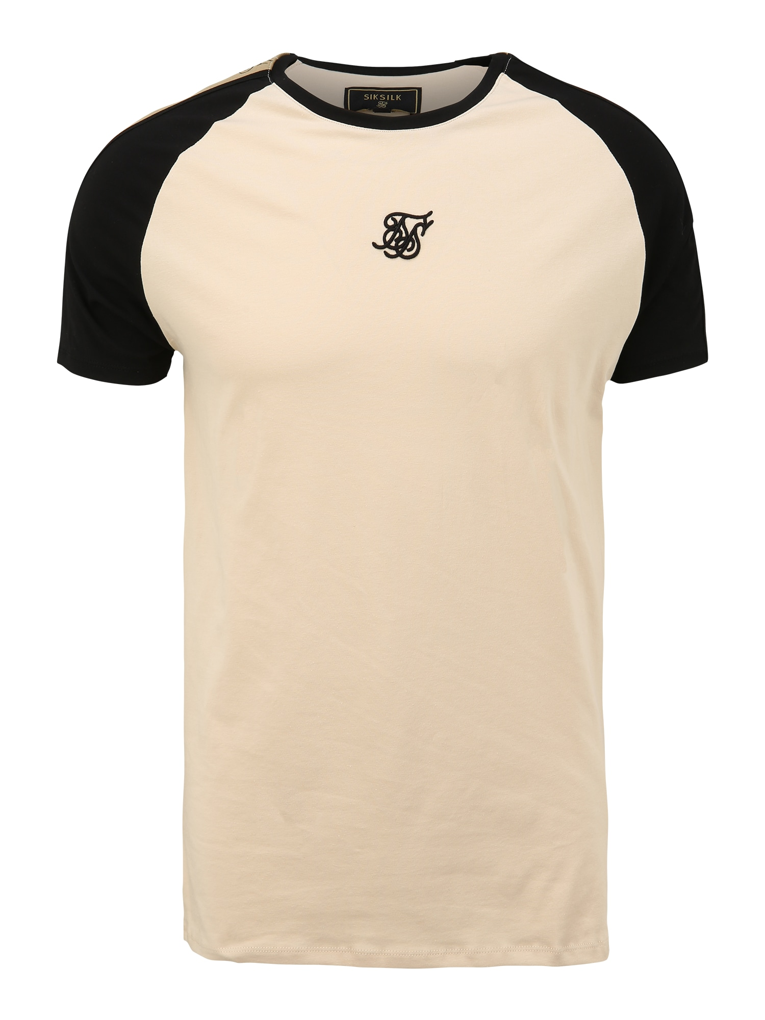 SikSilk Marškinėliai juoda / nebalintos drobės spalva