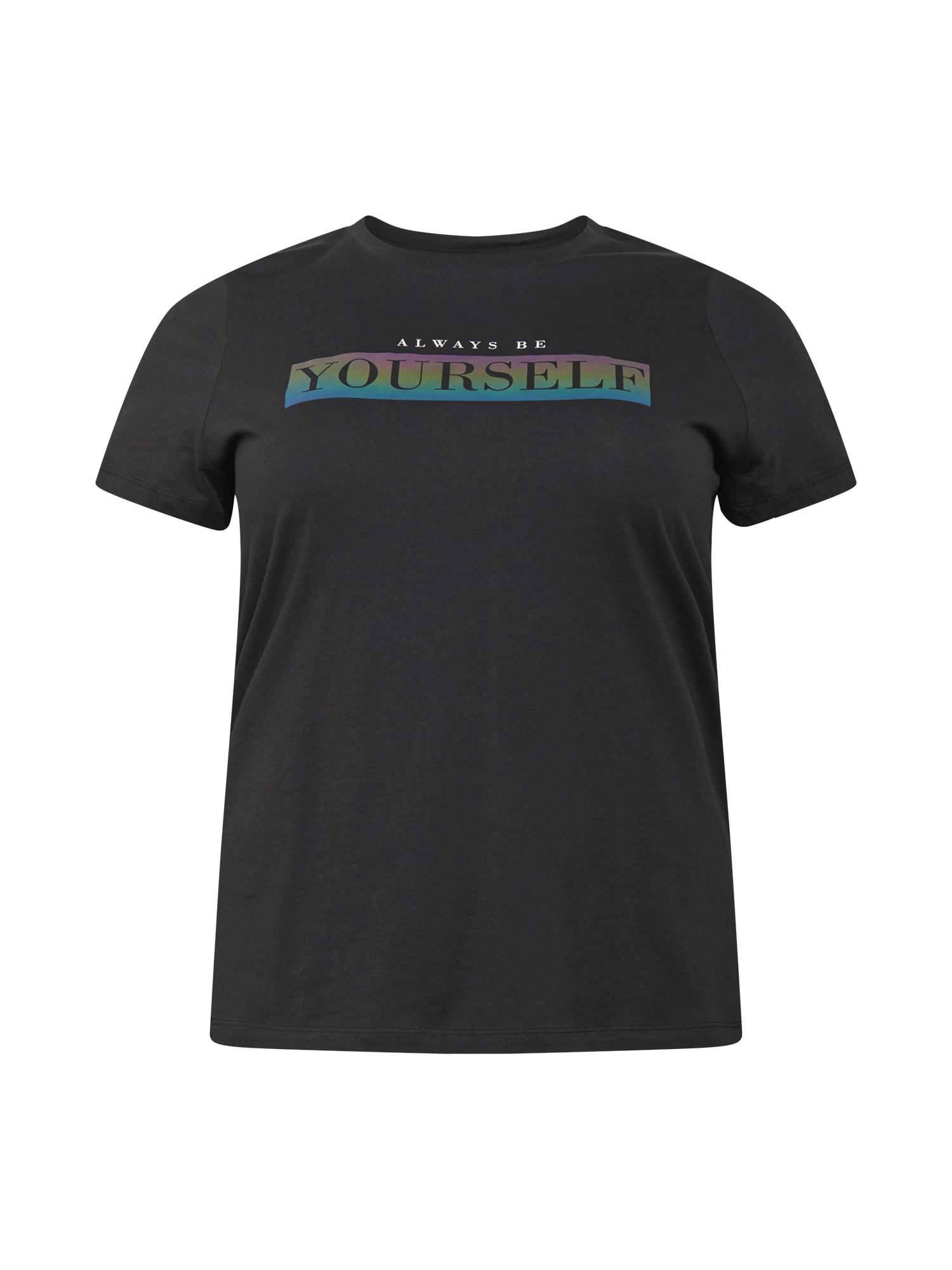Vero Moda Curve Marškinėliai juoda / mišrios spalvos