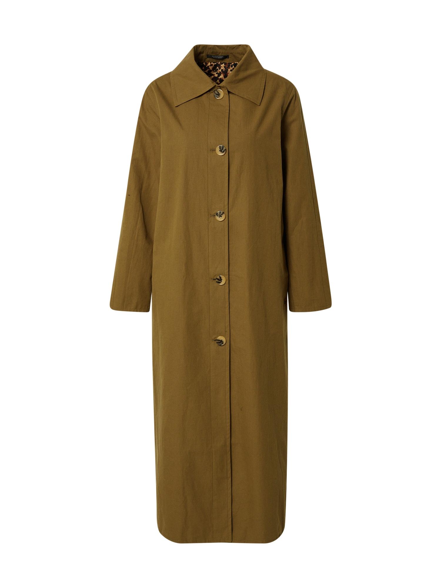 SCOTCH & SODA Demisezoninis paltas rusvai žalia