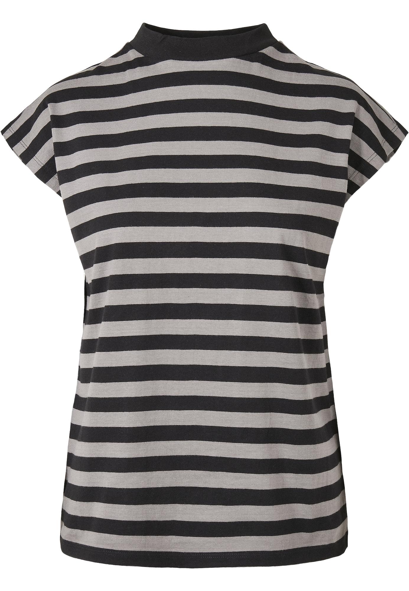 Urban Classics Curvy Marškinėliai pilka / juoda