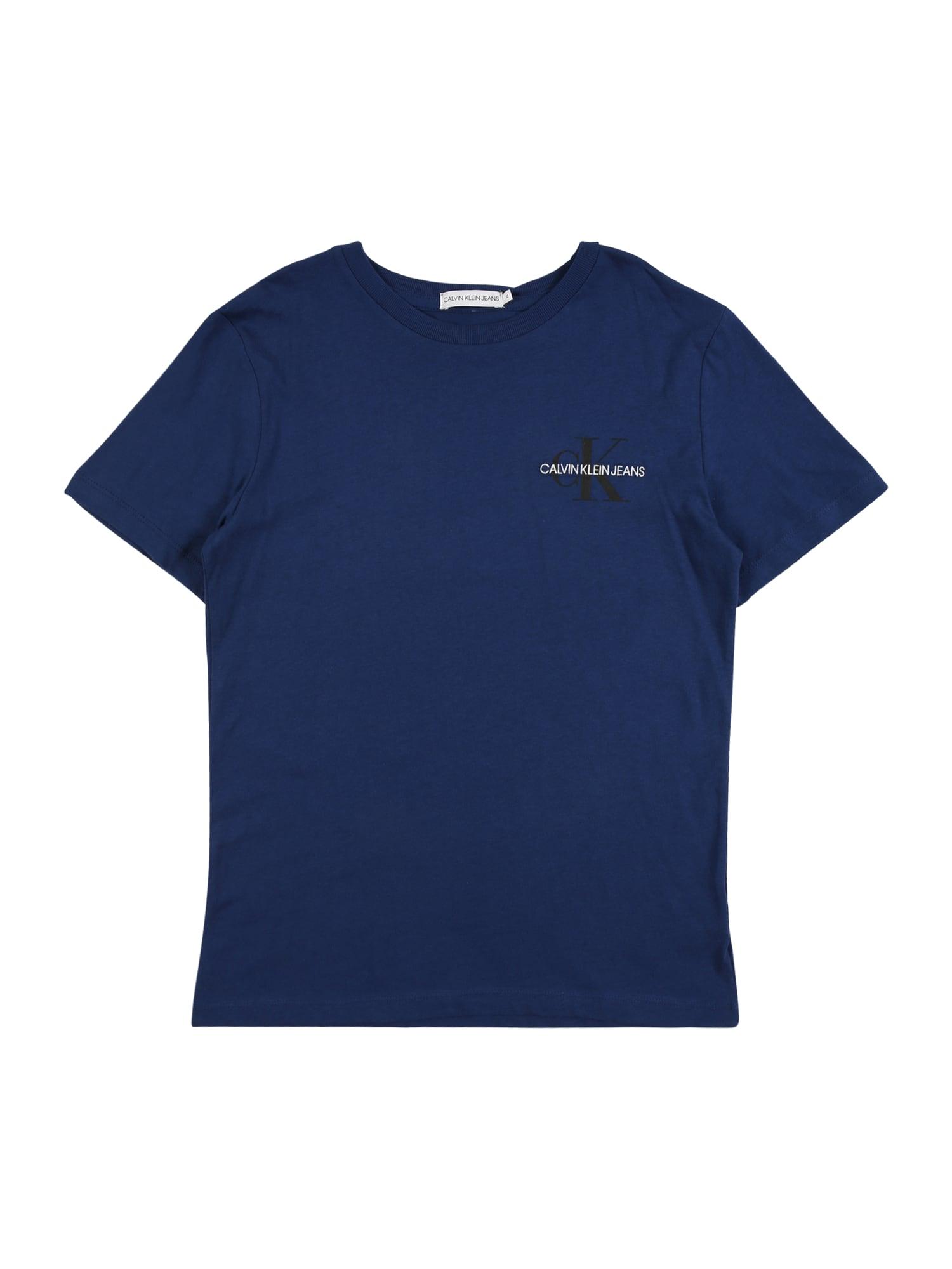 Calvin Klein Jeans Tričko  tmavě modrá / bílá / černá