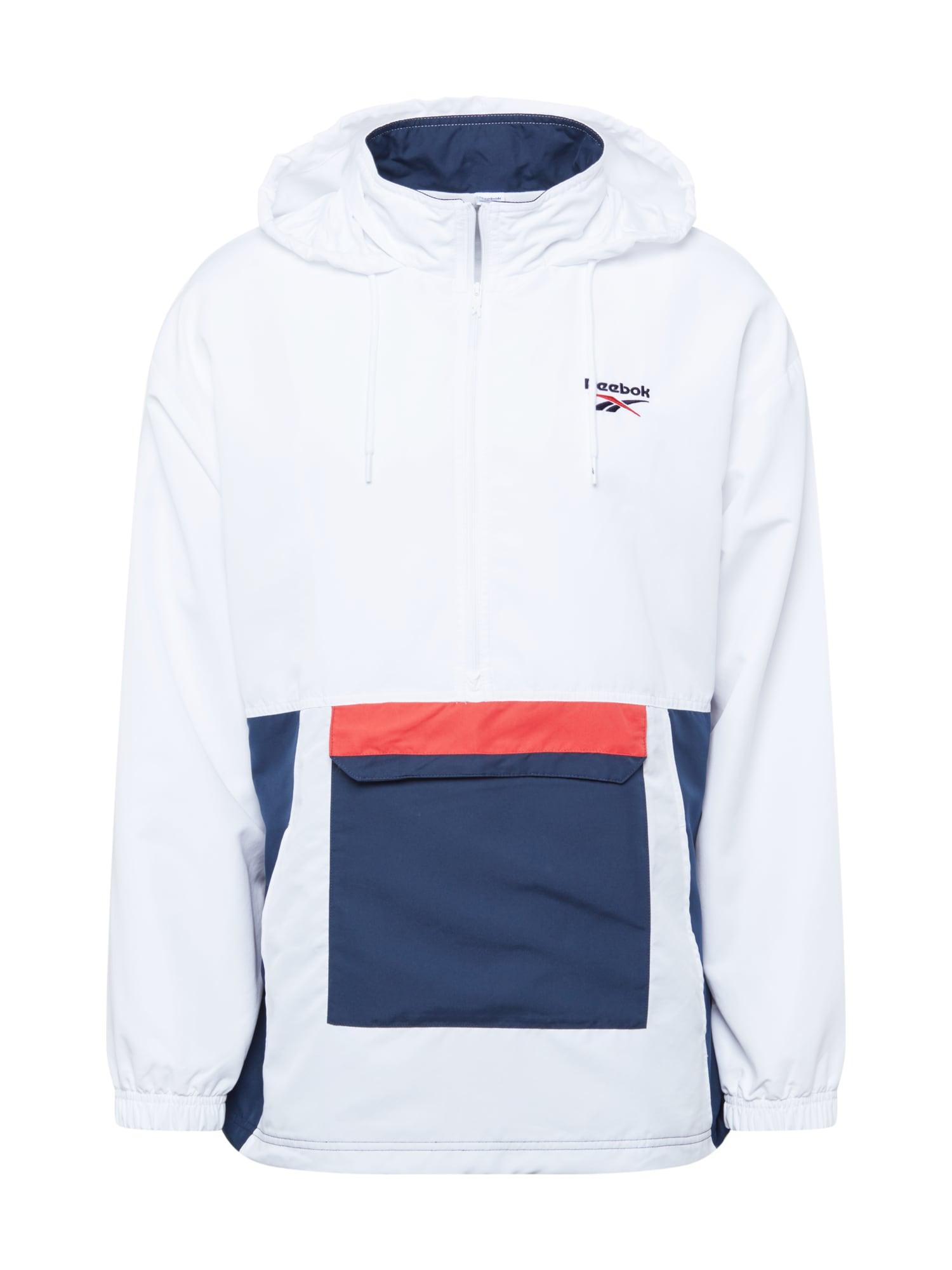 Reebok Classic Přechodná bunda  bílá / červená / modrá