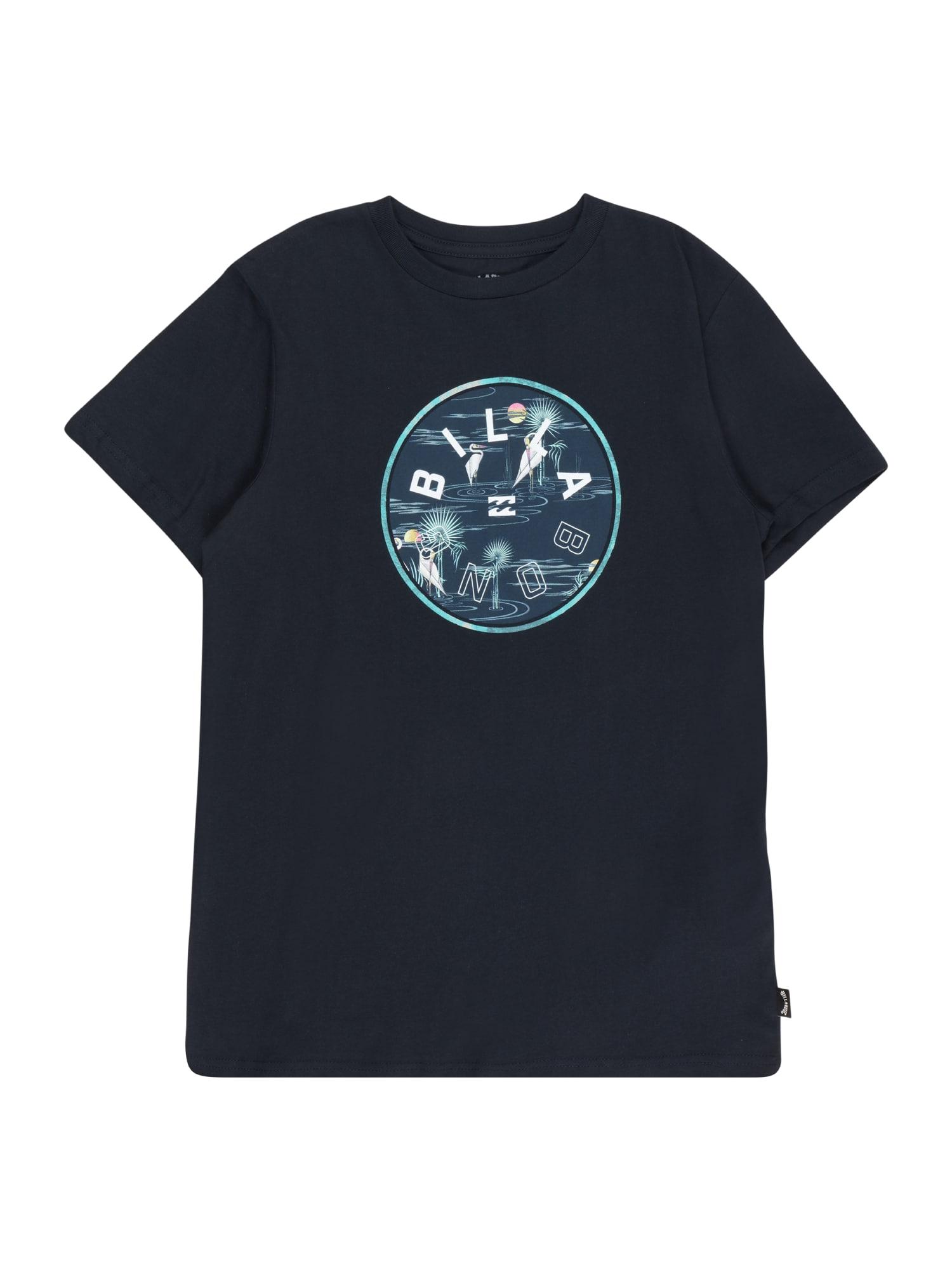 BILLABONG Funkční tričko 'ROTOR FILL'  noční modrá / marine modrá / bílá / tyrkysová