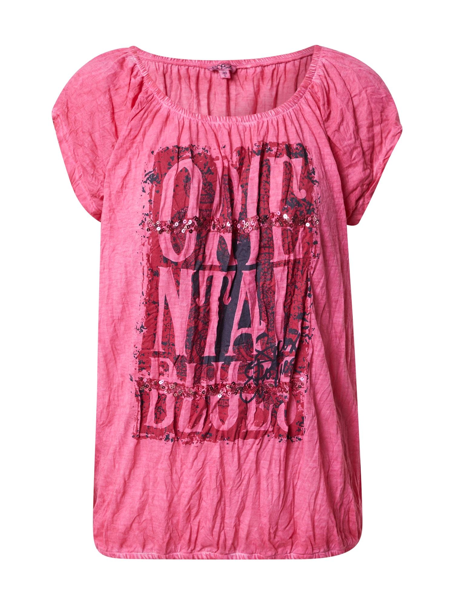 Soccx Marškinėliai rožinė / eozino spalva / tamsiai mėlyna
