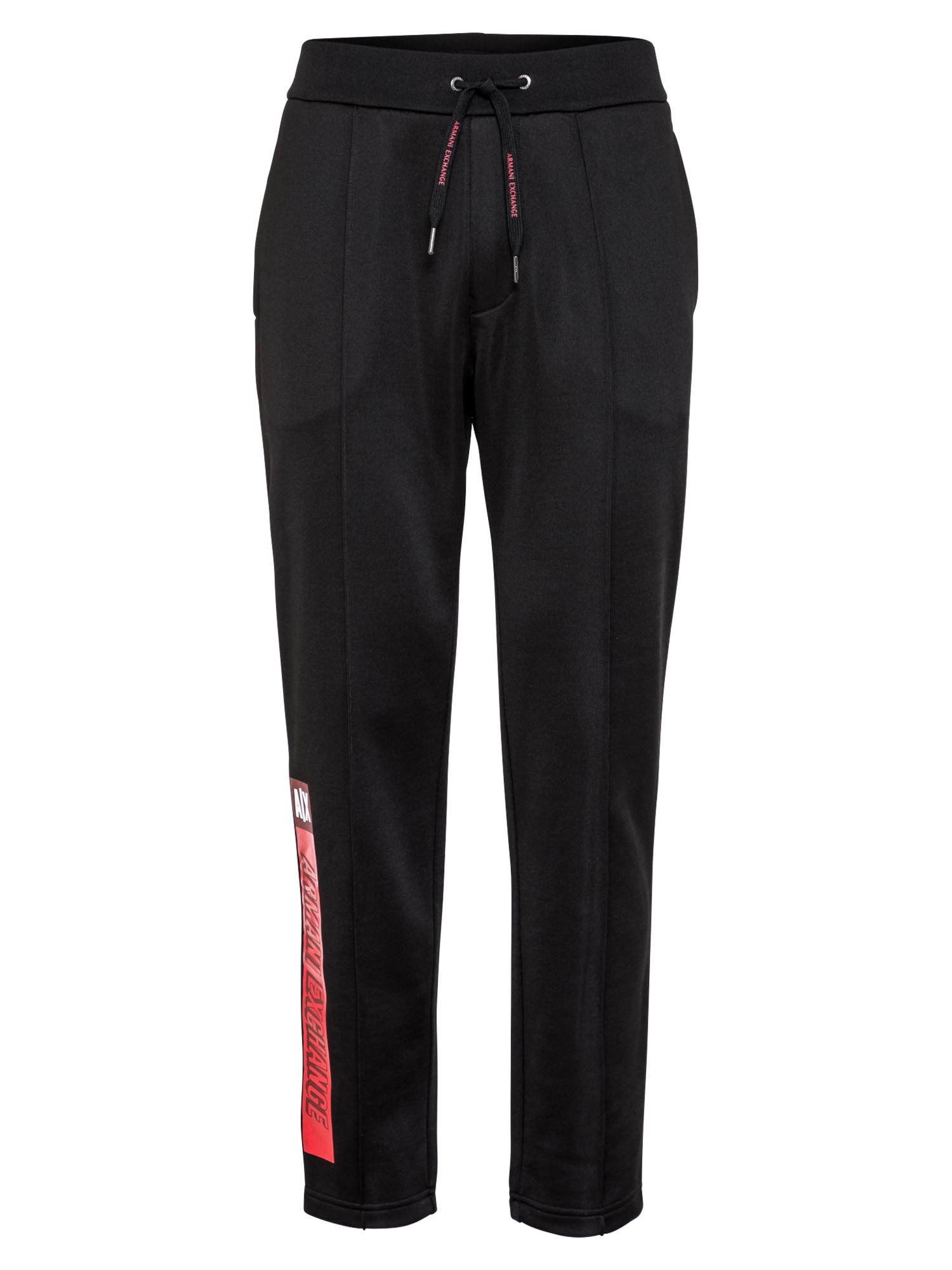 ARMANI EXCHANGE Kelnės juoda / raudona