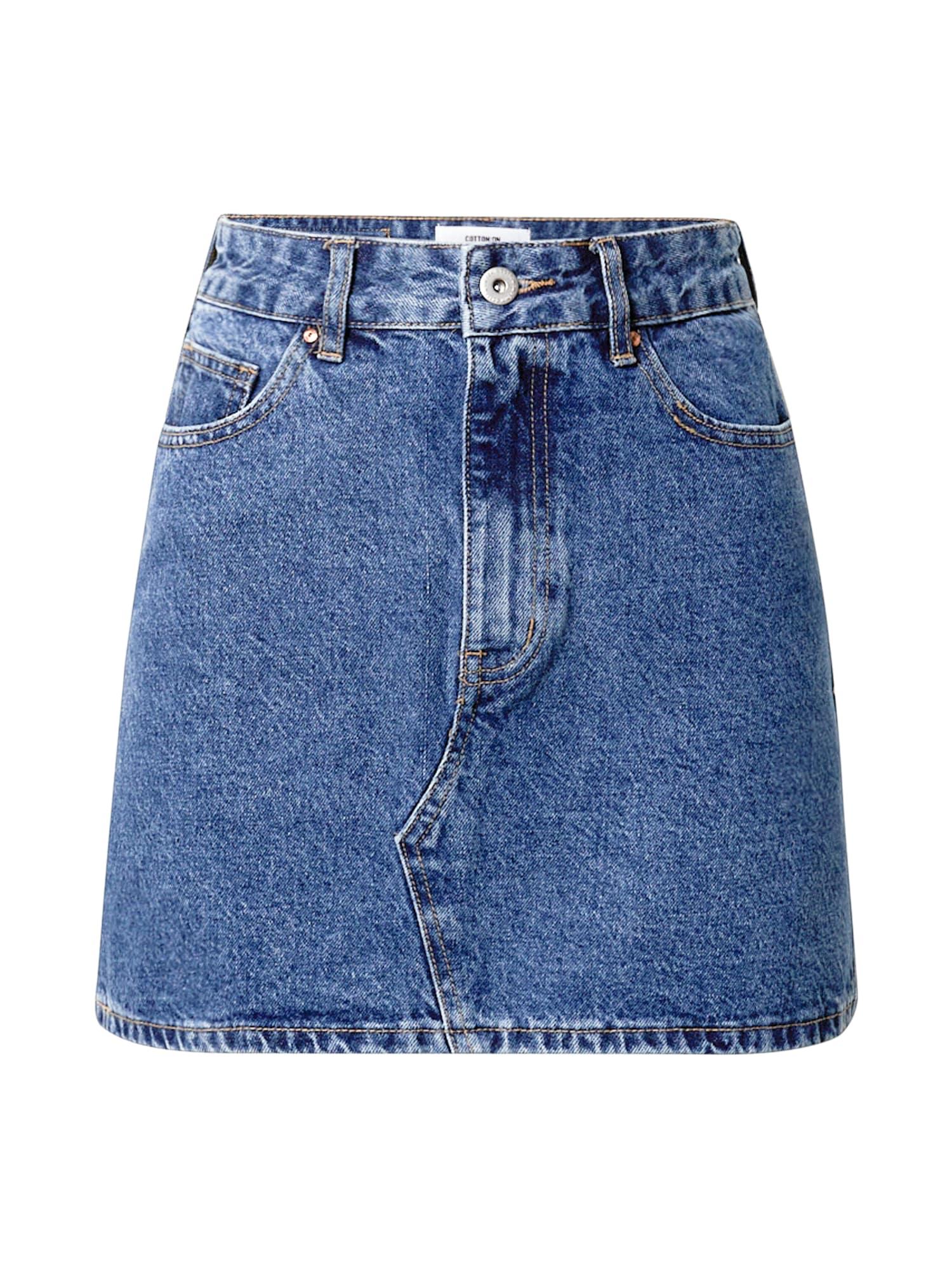 Cotton On Sijonas tamsiai (džinso) mėlyna